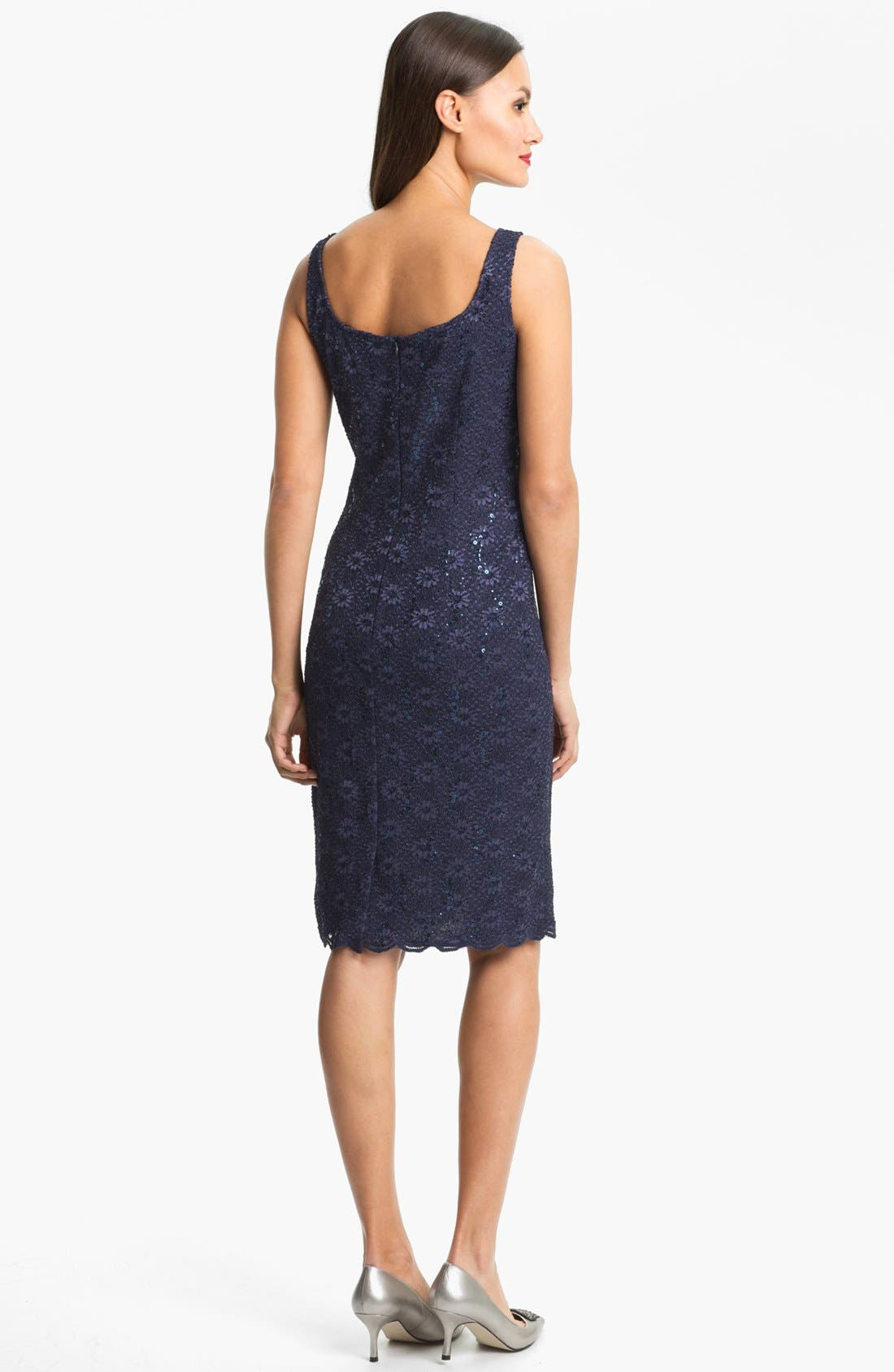 Alternate Image 3  - Alex Evenings Embellished Lace Dress & Jacket (Petite)