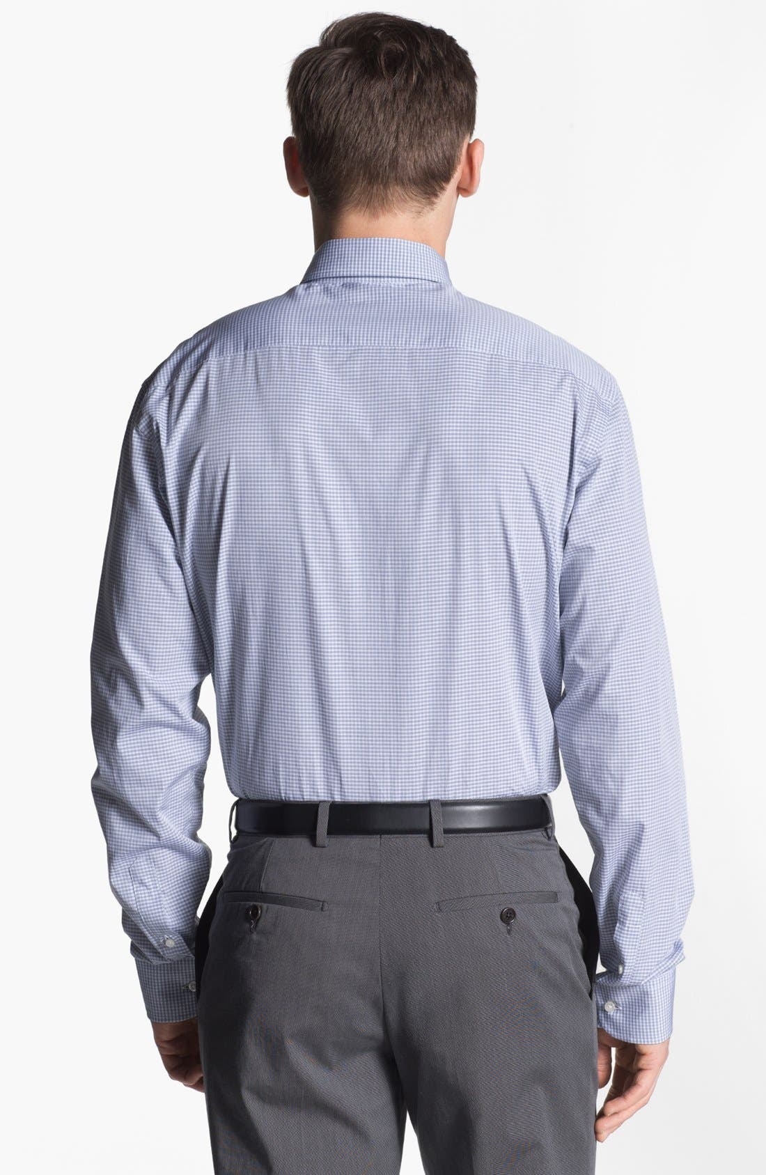 Alternate Image 2  - Armani Collezioni Trim Fit Check Cotton Dress Shirt