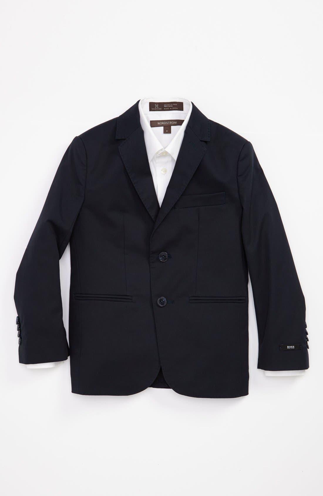 Alternate Image 1 Selected - BOSS Kidswear Twill Blazer (Little Boys & Big Boys)