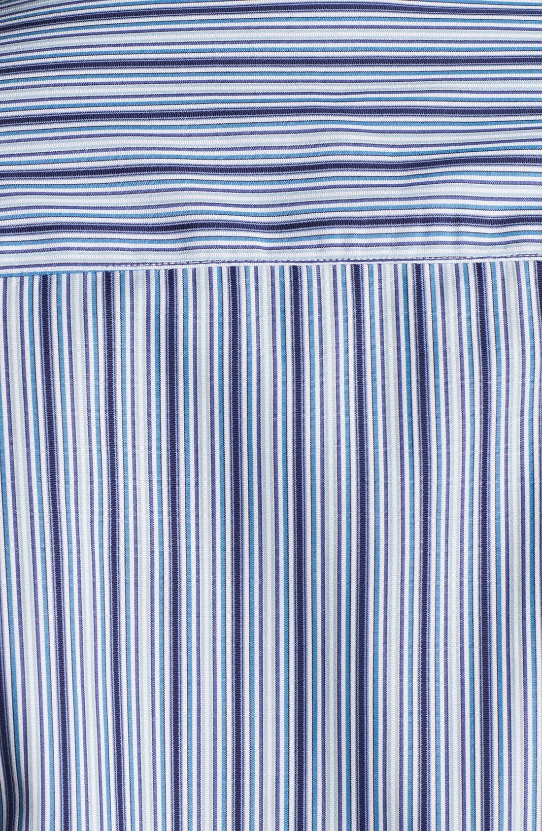 Alternate Image 4  - Bugatchi Striped Shaped Fit Cotton Sport Shirt