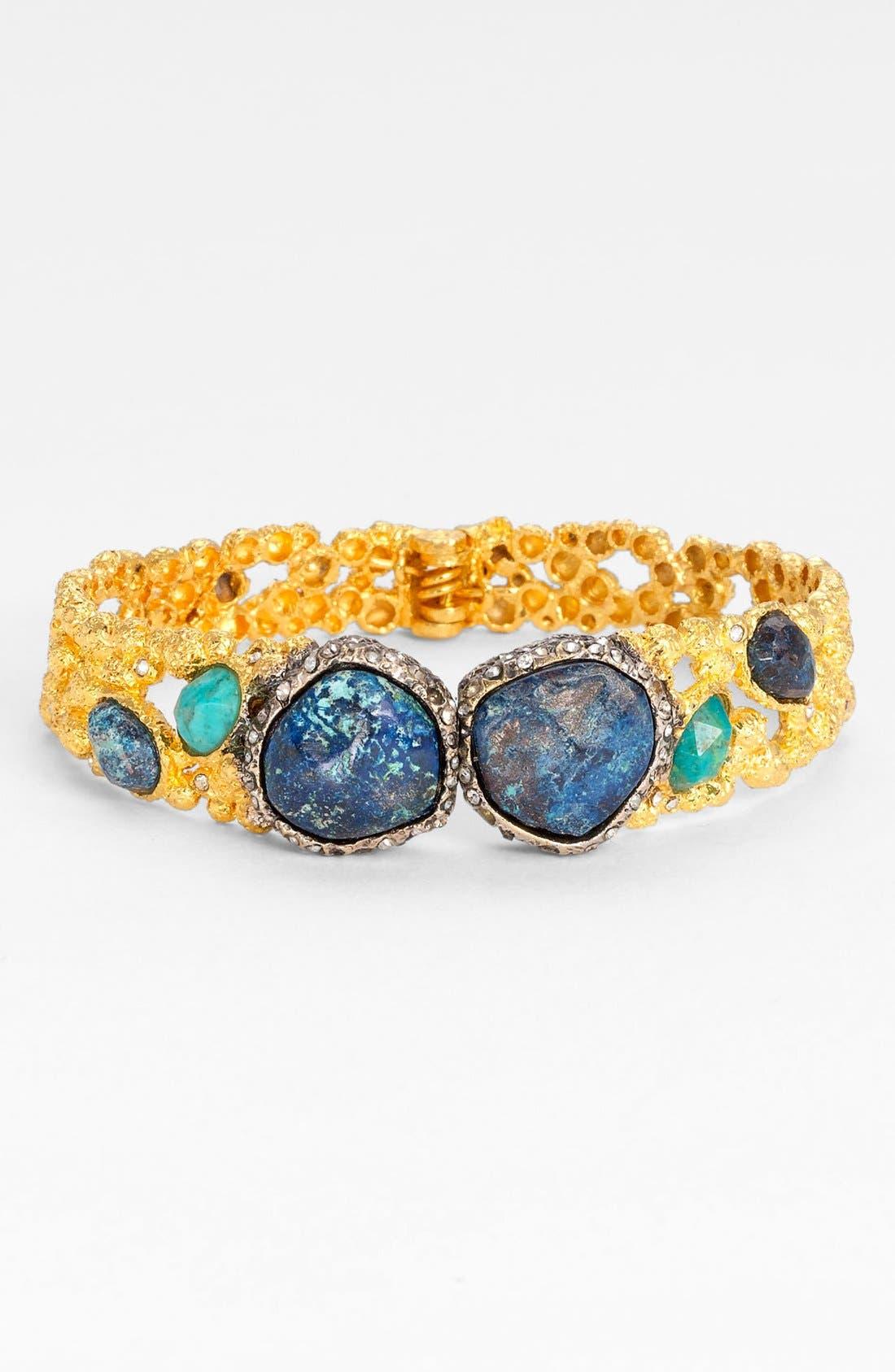 Alternate Image 1 Selected - Alexis Bittar 'Elements - Cordova' Chrysocolla Encrusted Hinged Bracelet