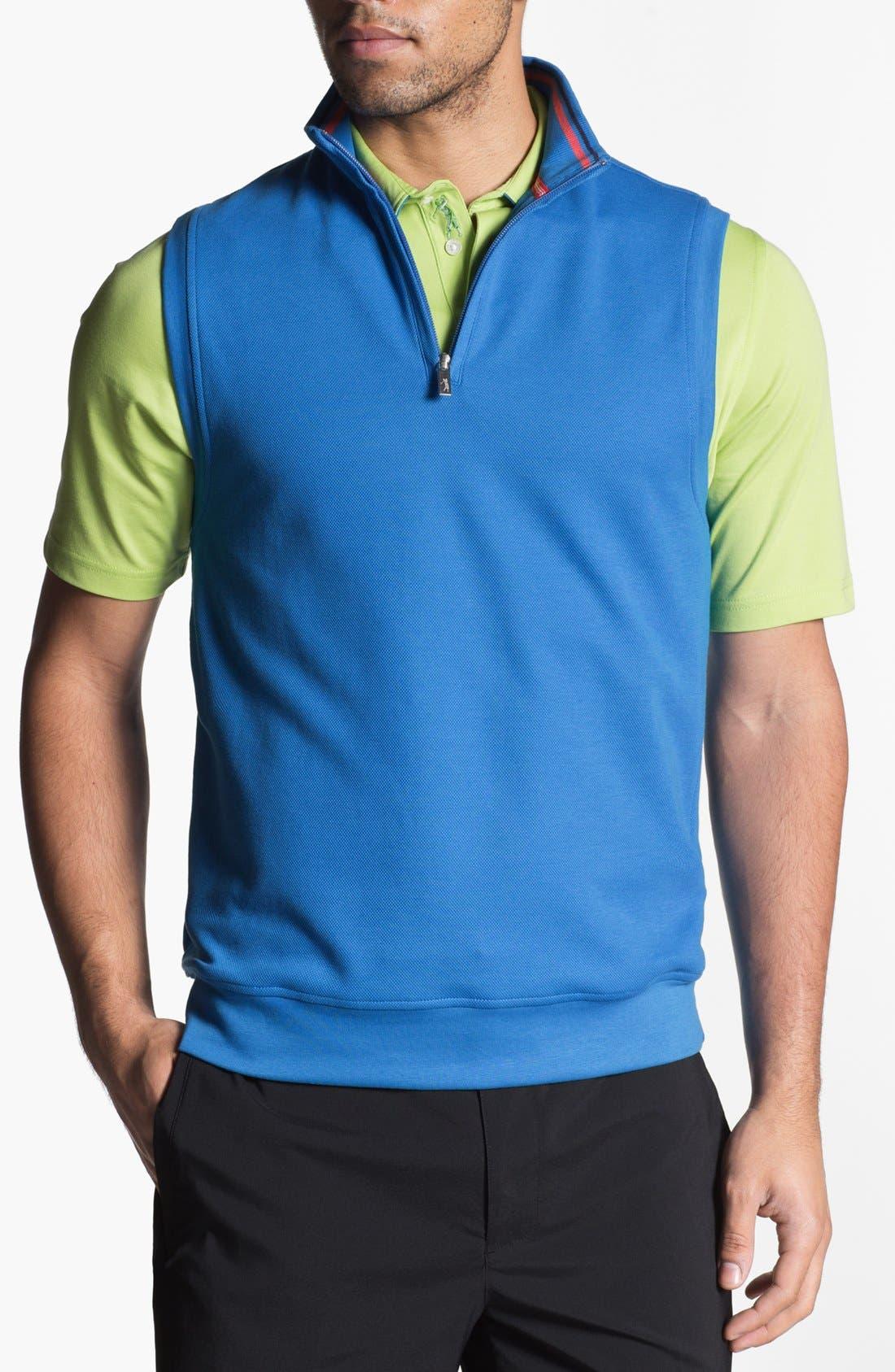 Alternate Image 1 Selected - Bobby Jones Quarter Zip Piqué Vest