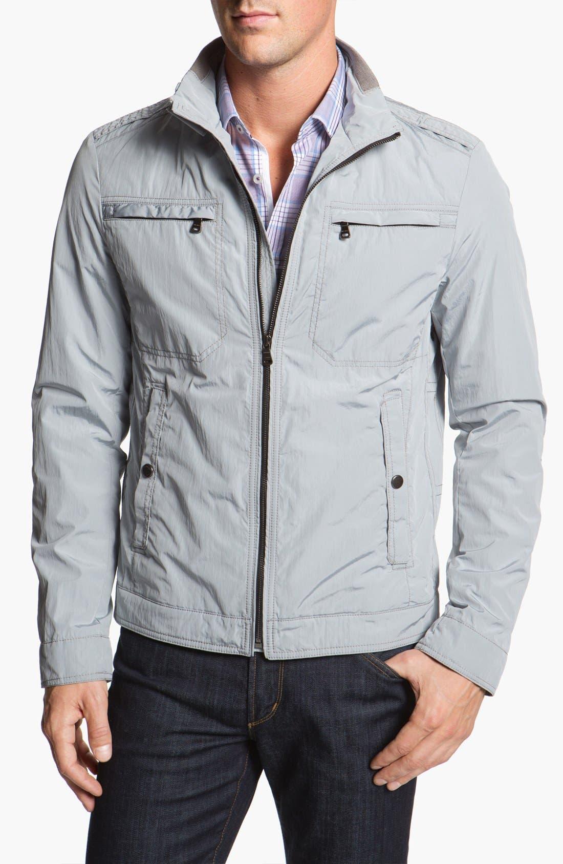 Alternate Image 1 Selected - BOSS Black 'Capontz' Crinkle Techno Jacket