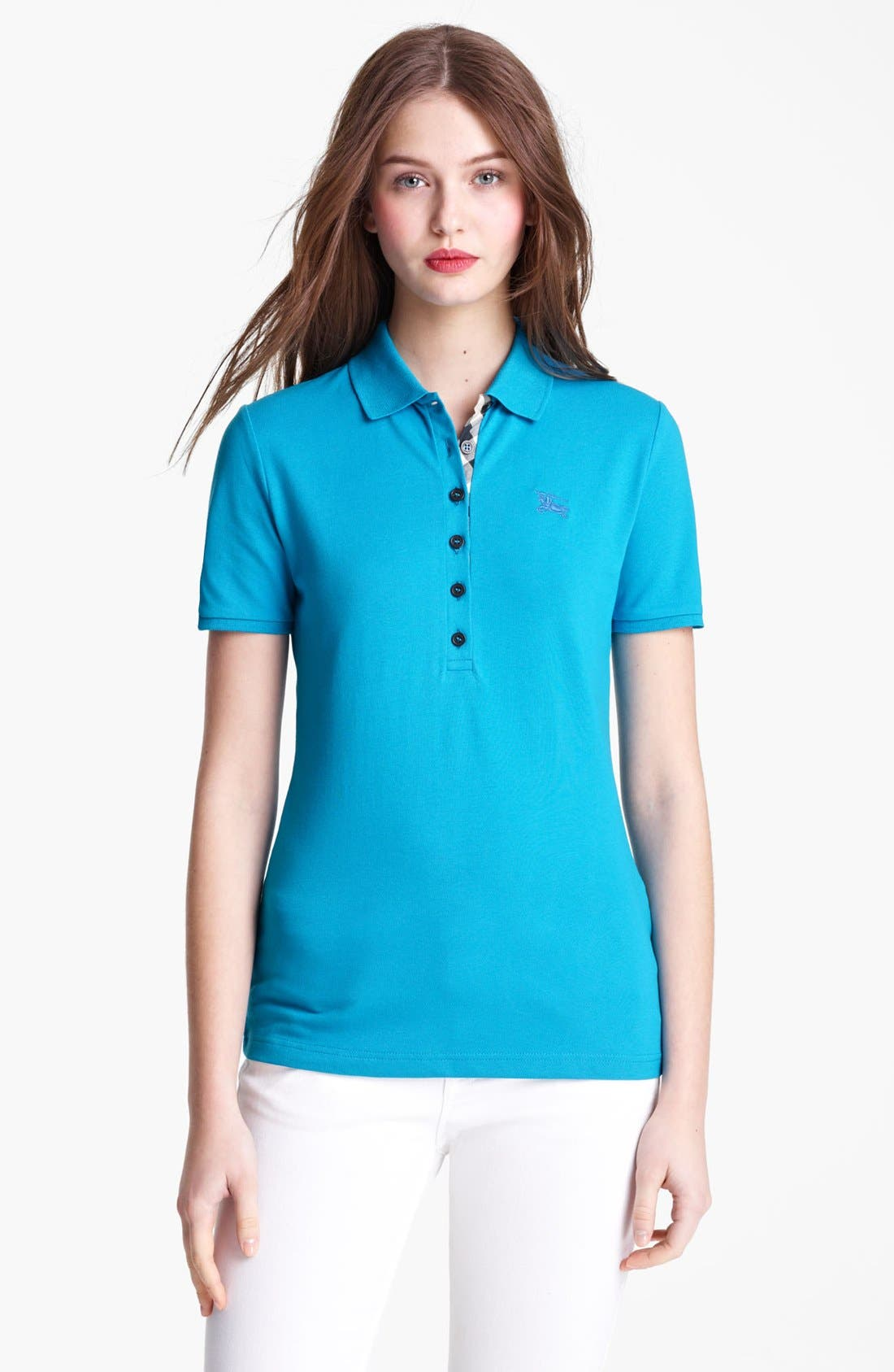 Alternate Image 1 Selected - Burberry Brit Check Trim Polo