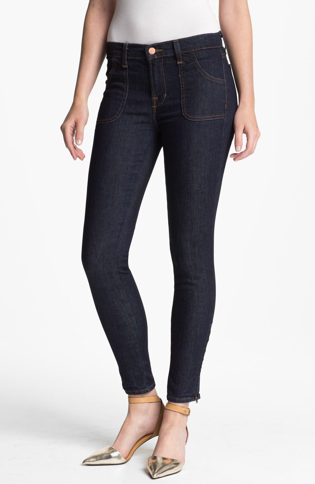 Main Image - J Brand 'Retro' Skinny Ankle Zip Jeans (Clean Rinse)