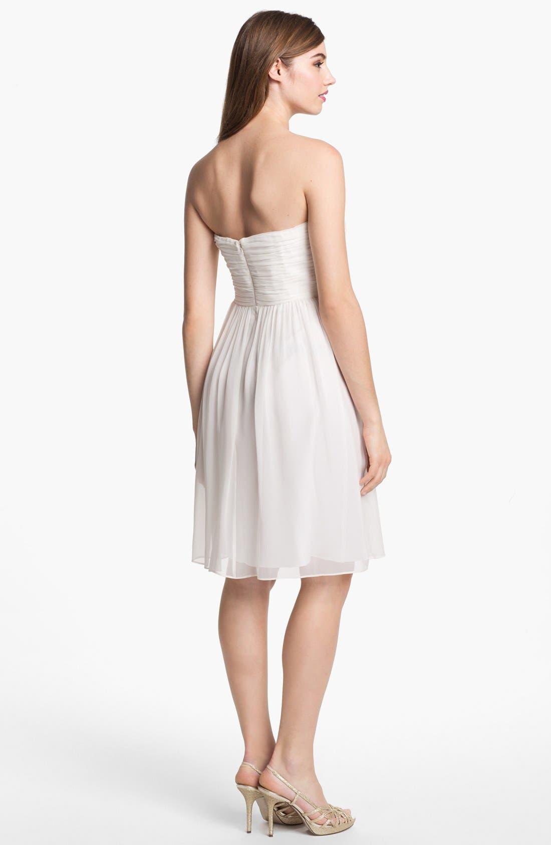 Alternate Image 2  - Donna Morgan Strapless Rosette Detail Chiffon Dress