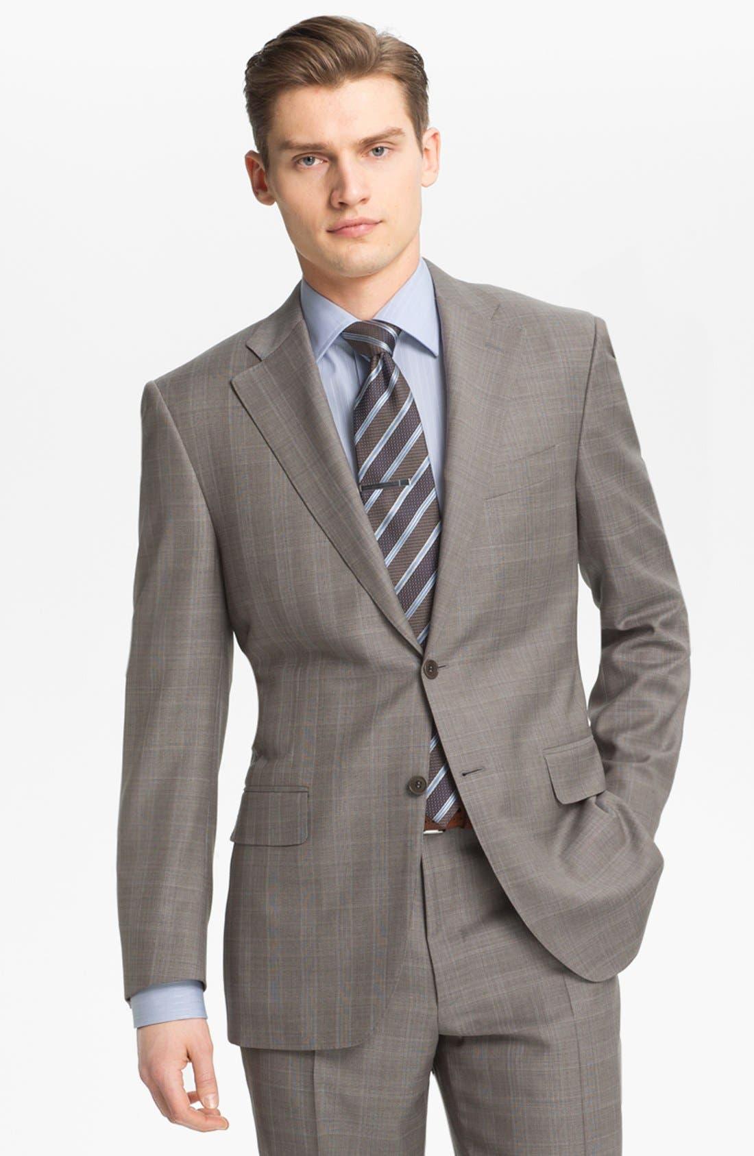 Alternate Image 4  - Canali Plaid Wool Suit