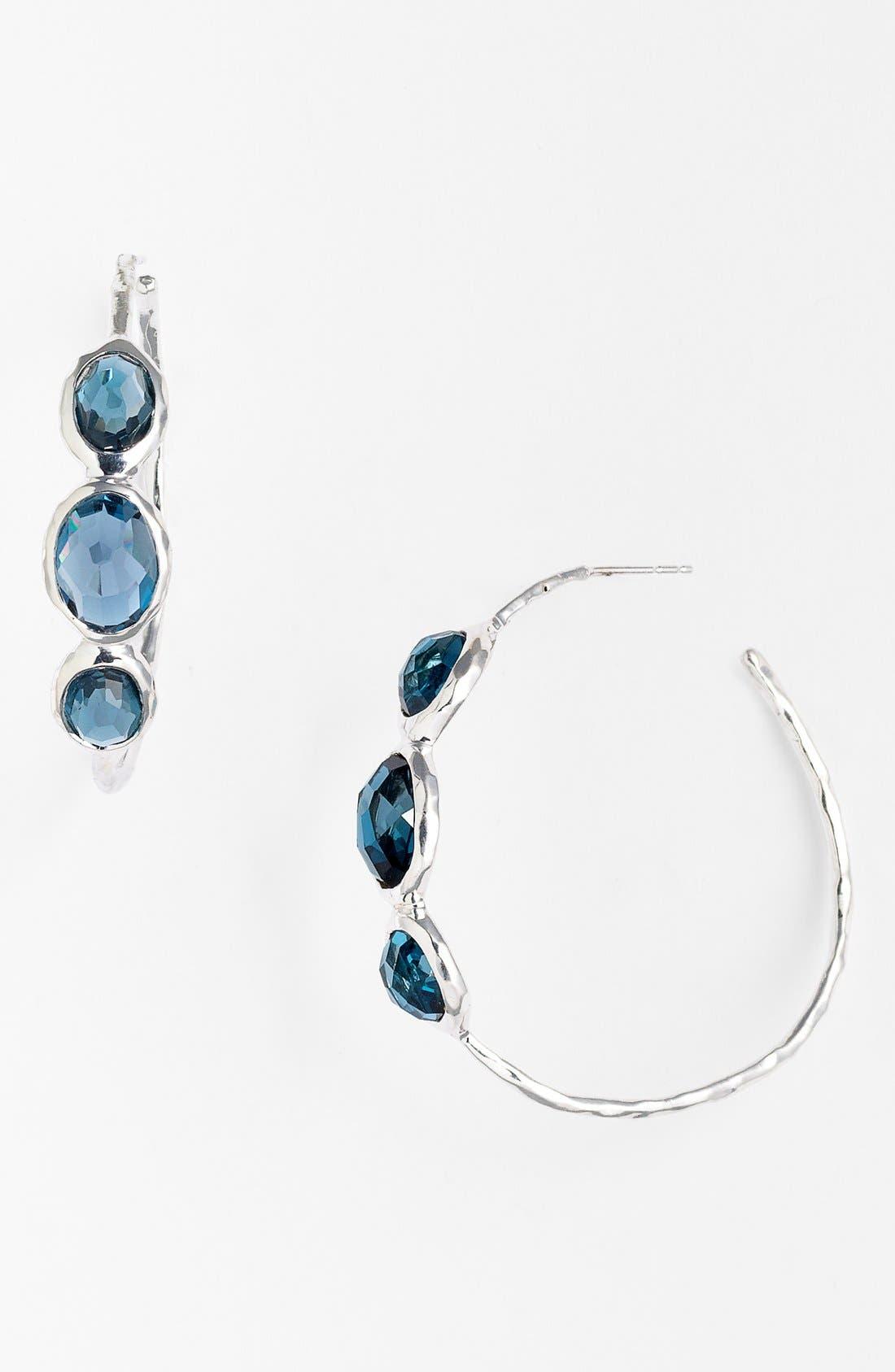 Alternate Image 1 Selected - Ippolita 'Rock Candy - Number 3' 3 Stone Hoop Earrings