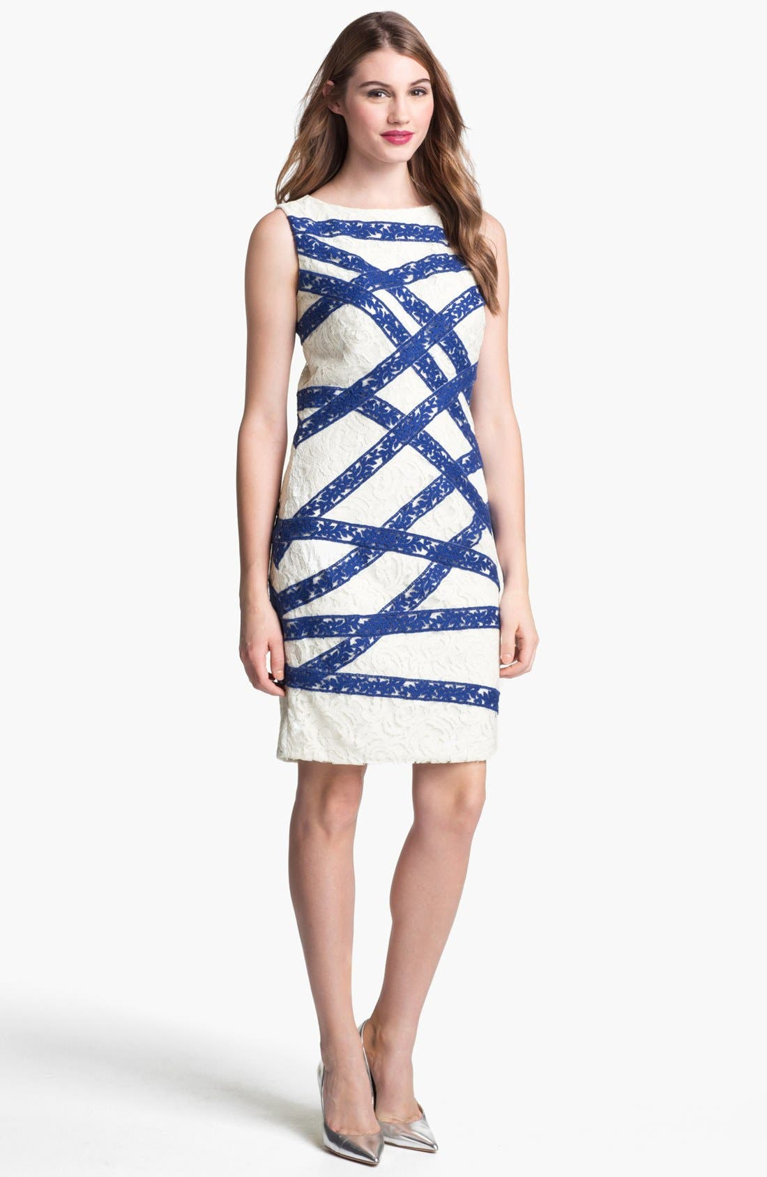 Alternate Image 1  - Tadashi Shoji Sleeveless Lace Sheath Dress