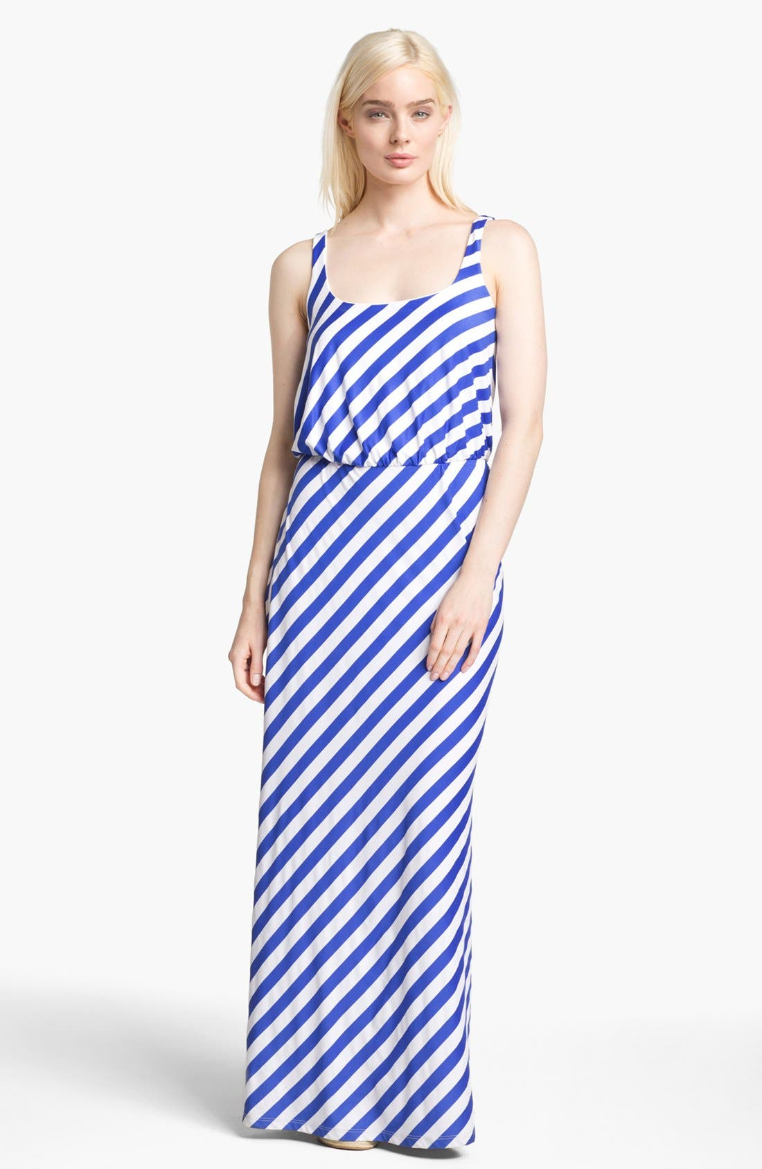 Alternate Image 1 Selected - Susana Monaco Diagonal Stripe Maxi Dress