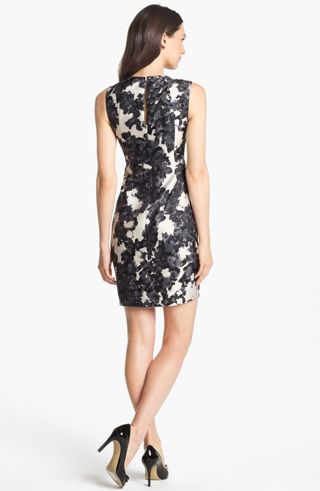 Alternate Image 2  - kate spade new york 'leena' print cotton & silk sheath dress