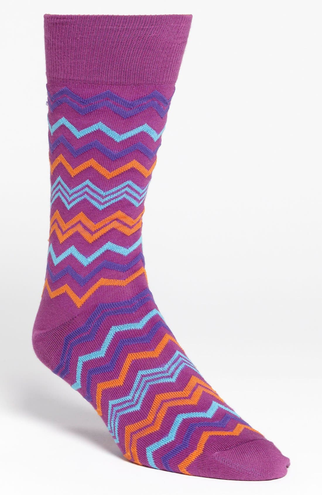 Alternate Image 1 Selected - Lorenzo Uomo Zigzag Socks