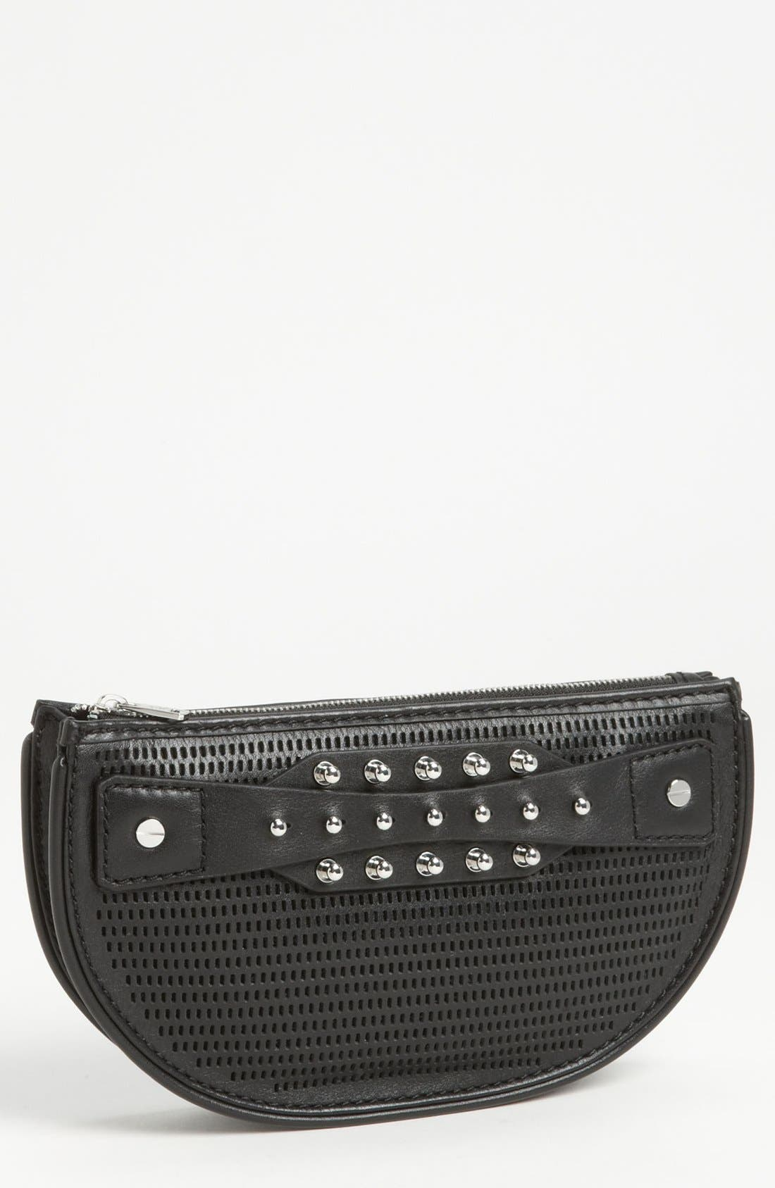 Alternate Image 1 Selected - McQ by Alexander McQueen 'Collar Stud - Mini' Perforated Leather Clutch