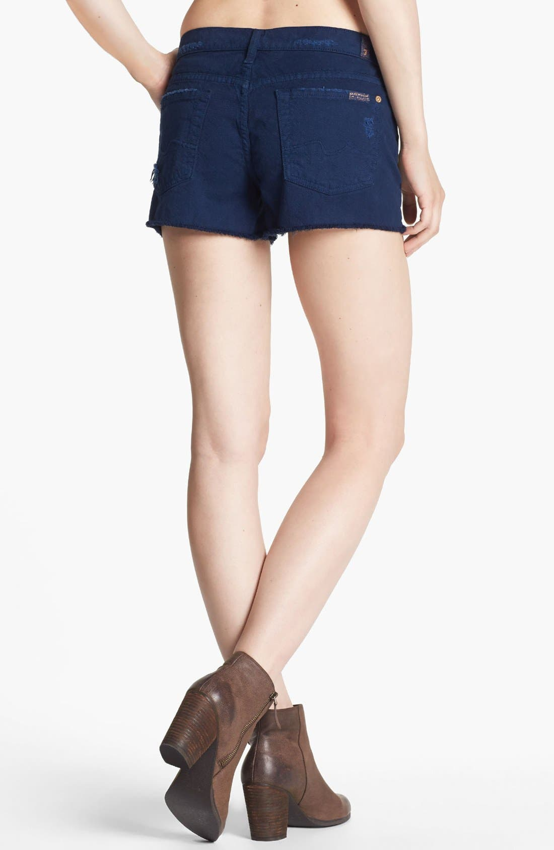 Alternate Image 2  - 7 For All Mankind® Relaxed Cutoff Shorts (Navy)