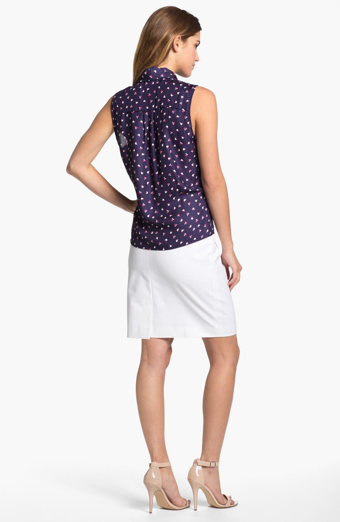 Alternate Image 4  - Olivia Moon Tie Neck Sleeveless Blouse