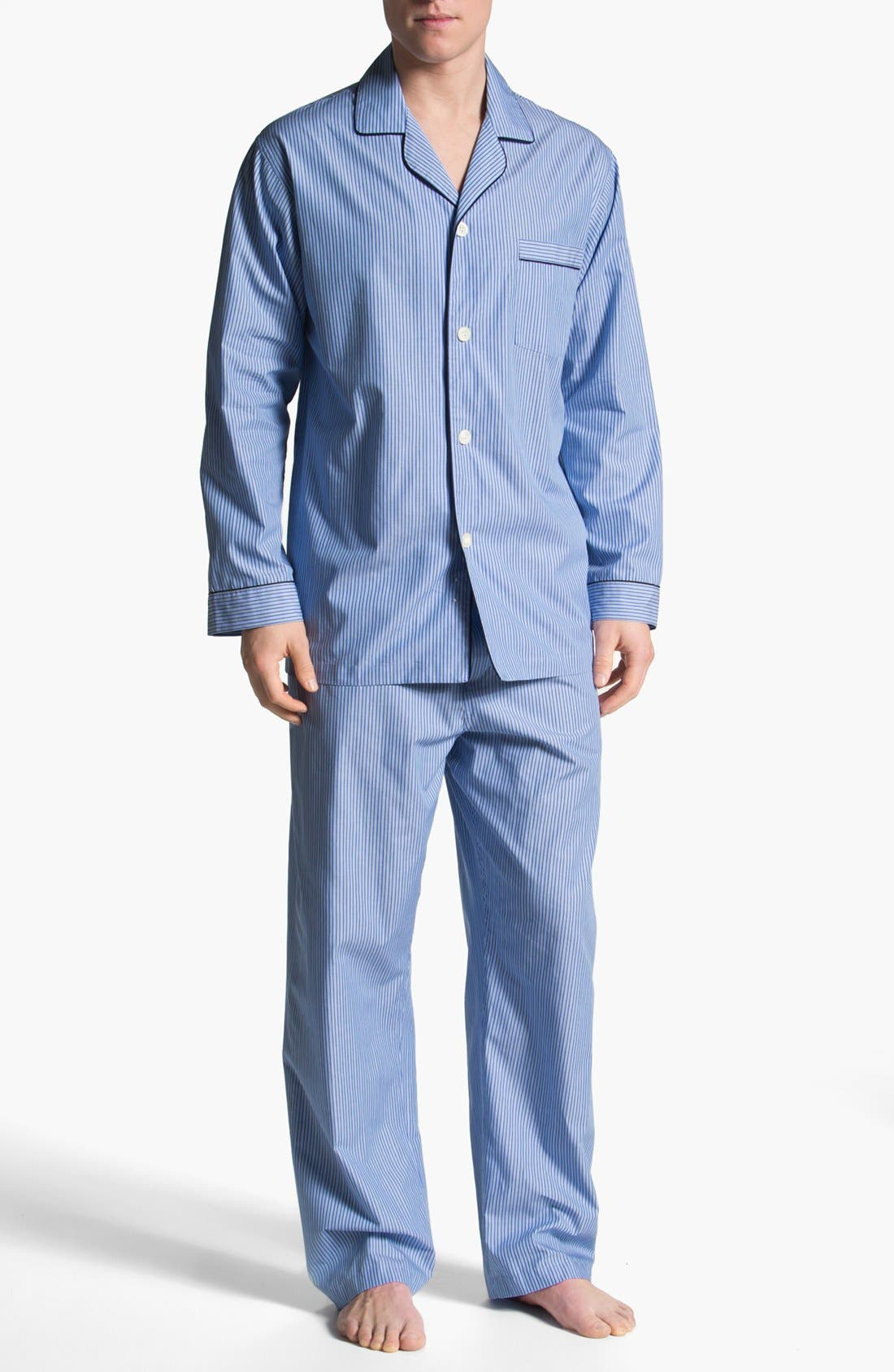 Alternate Image 1 Selected - Brooks Brothers Cotton Pajamas