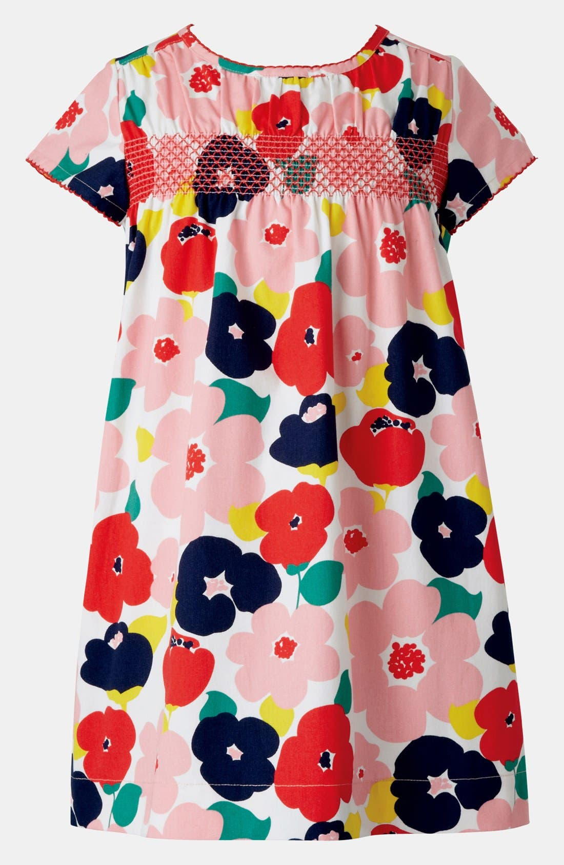 Main Image - Mini Boden Smocked Dress (Toddler Girls)