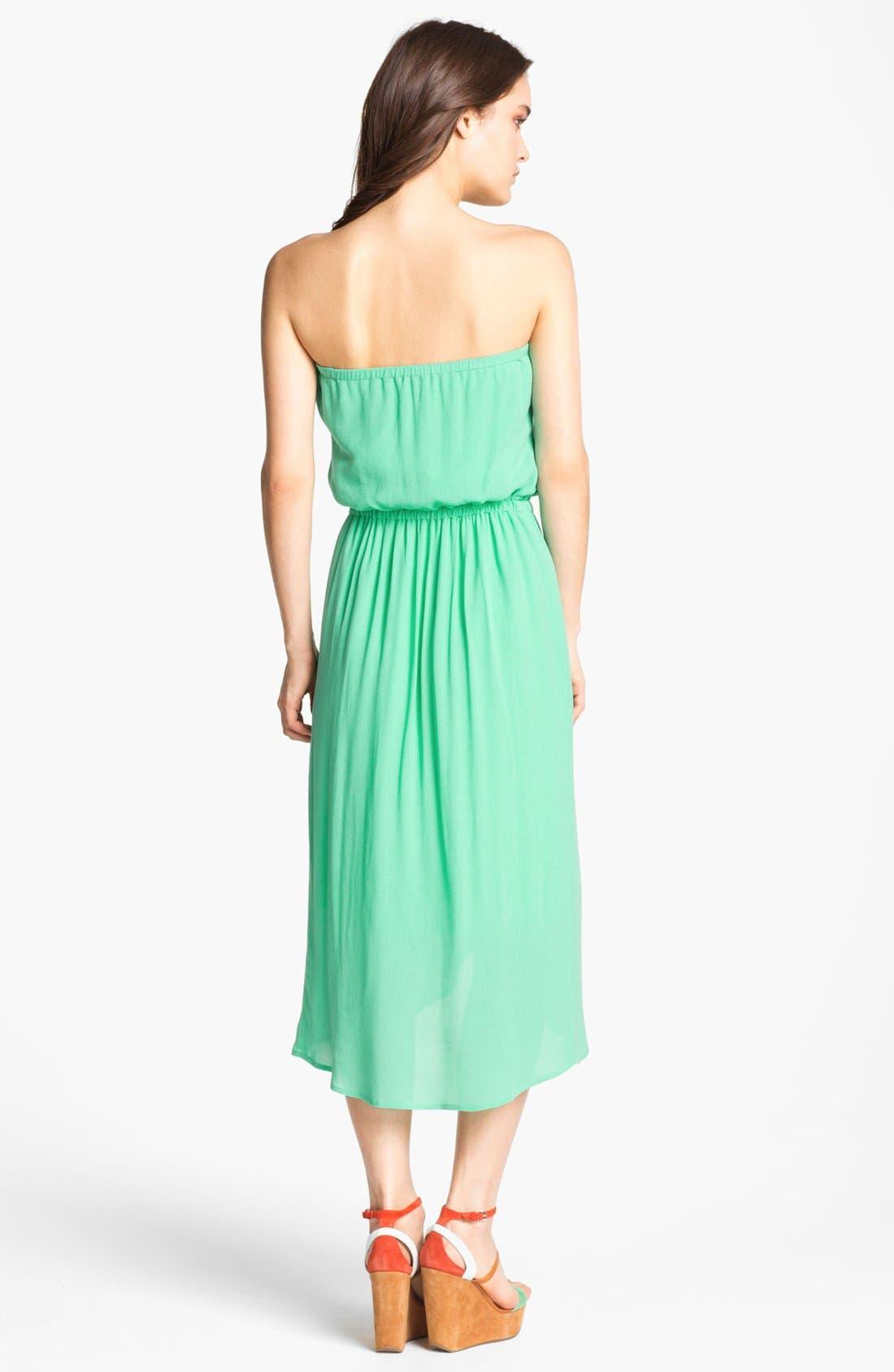 Alternate Image 2  - Ella Moss Strapless Faux Wrap Dress