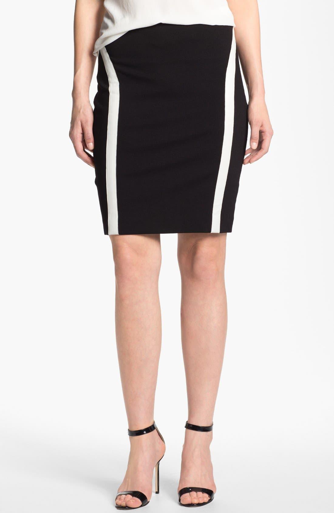 Main Image - DKNYC Leather Trim Skirt