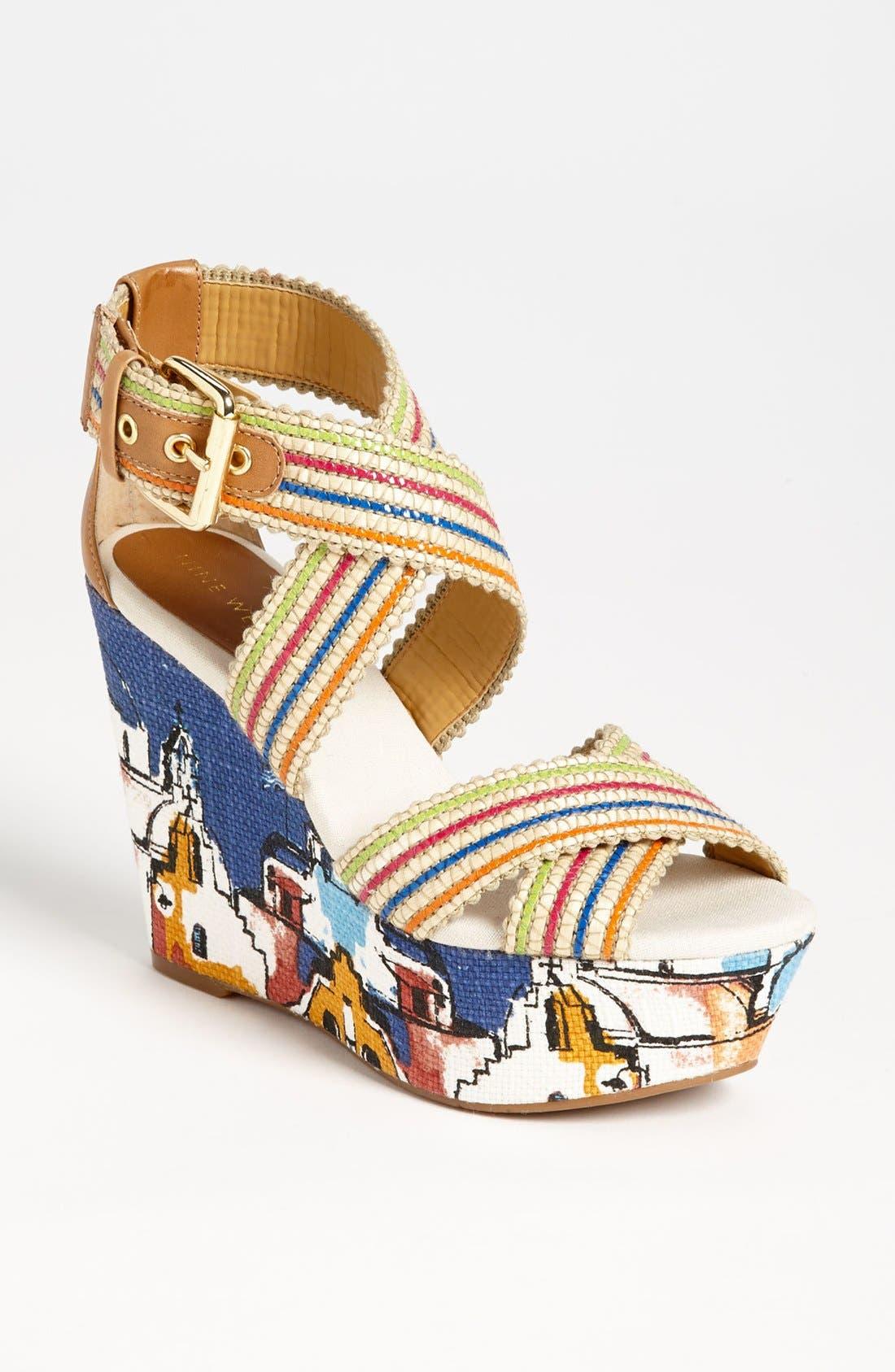 Main Image - Nine West 'Mitchell' Wedge Sandal
