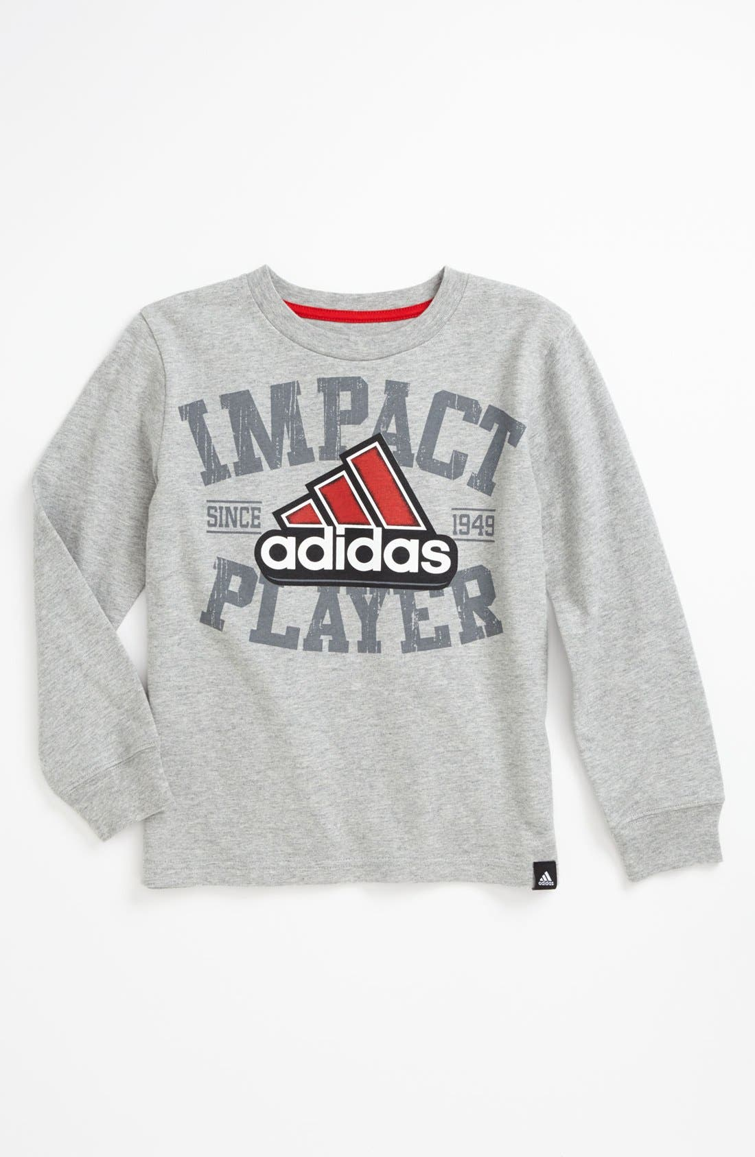 Alternate Image 1 Selected - adidas 'Impact Player' T-Shirt (Little Boys)