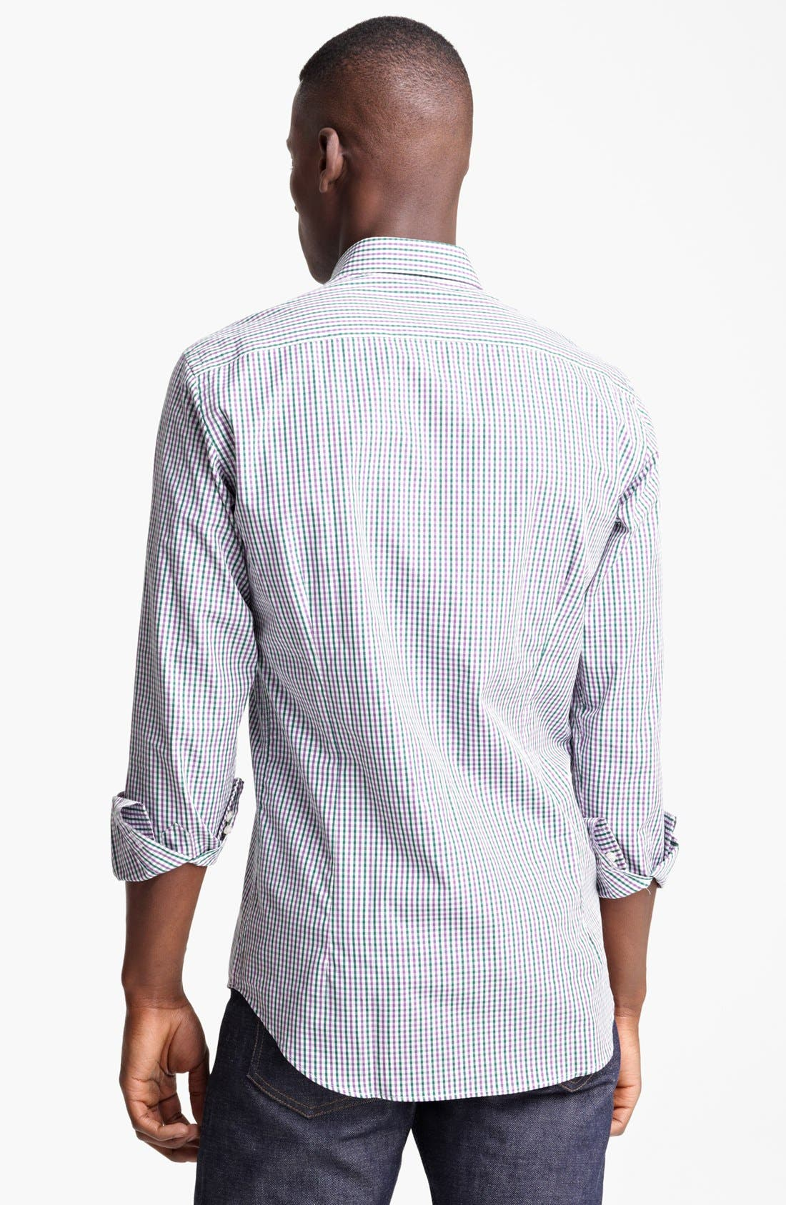 Alternate Image 2  - Etro Check Print Cotton Sport Shirt
