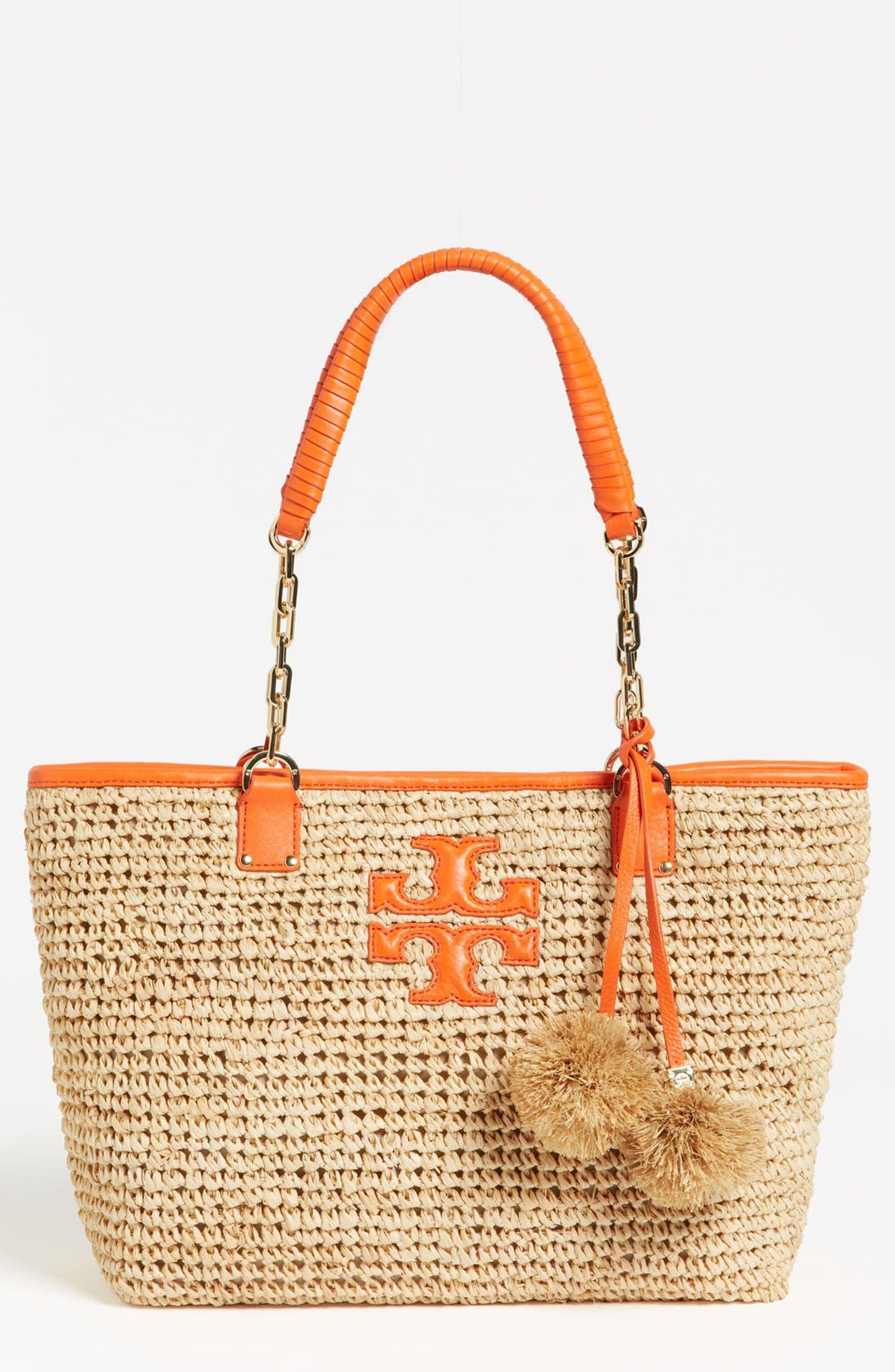 Alternate Image 1 Selected - Tory Burch 'Thea - Small' Straw Tote