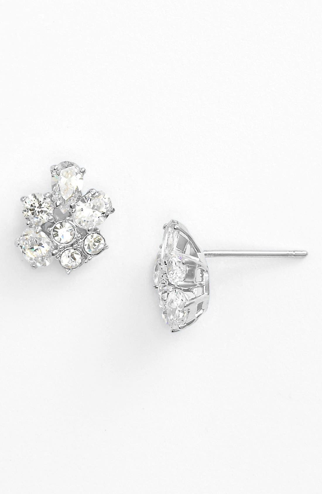 Main Image - Nadri Cubic Zirconia Cluster Stud Earrings (Nordstrom Exclusive)