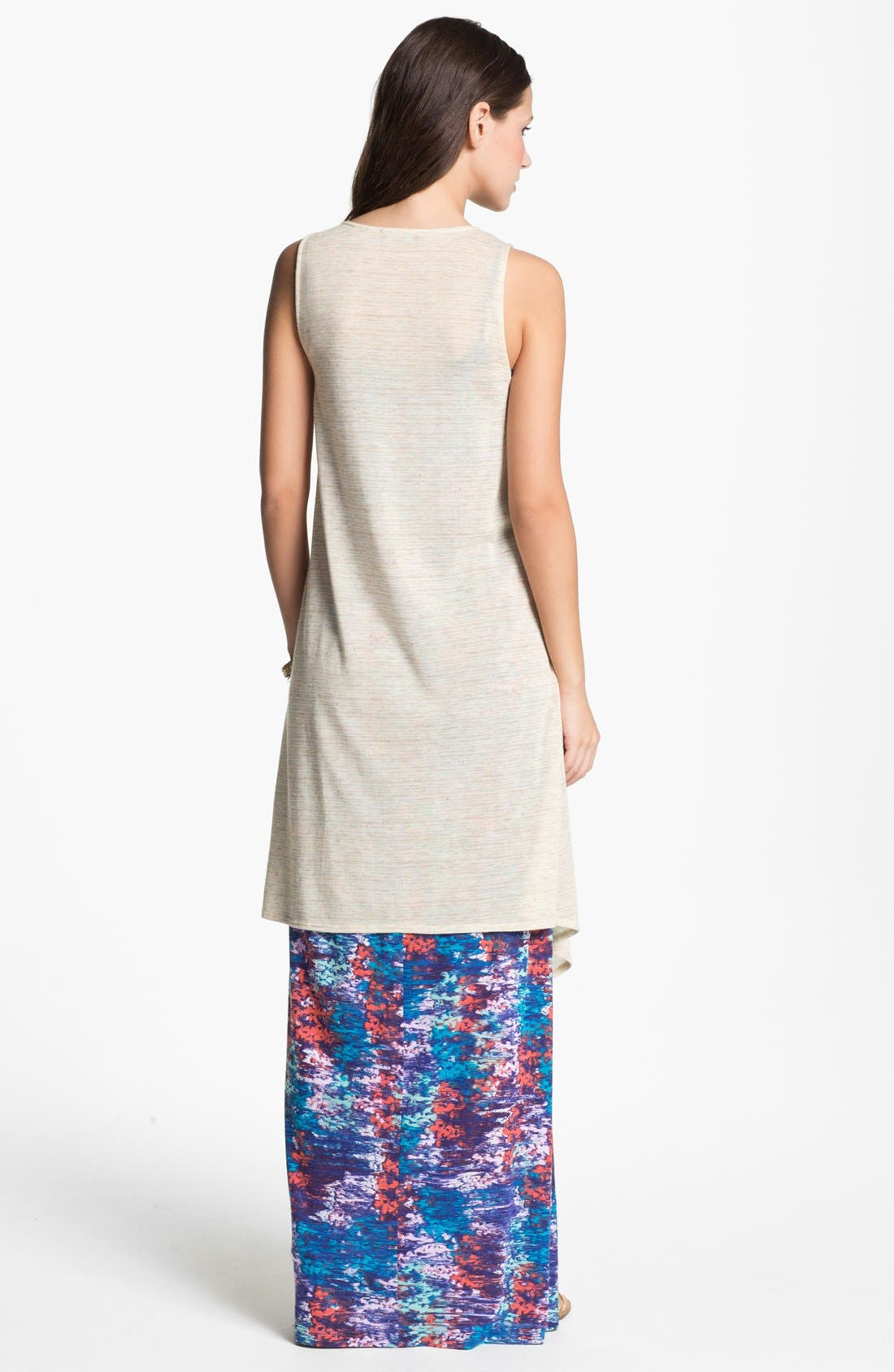Alternate Image 2  - Soprano Handkerchief Maxi Vest (Juniors)