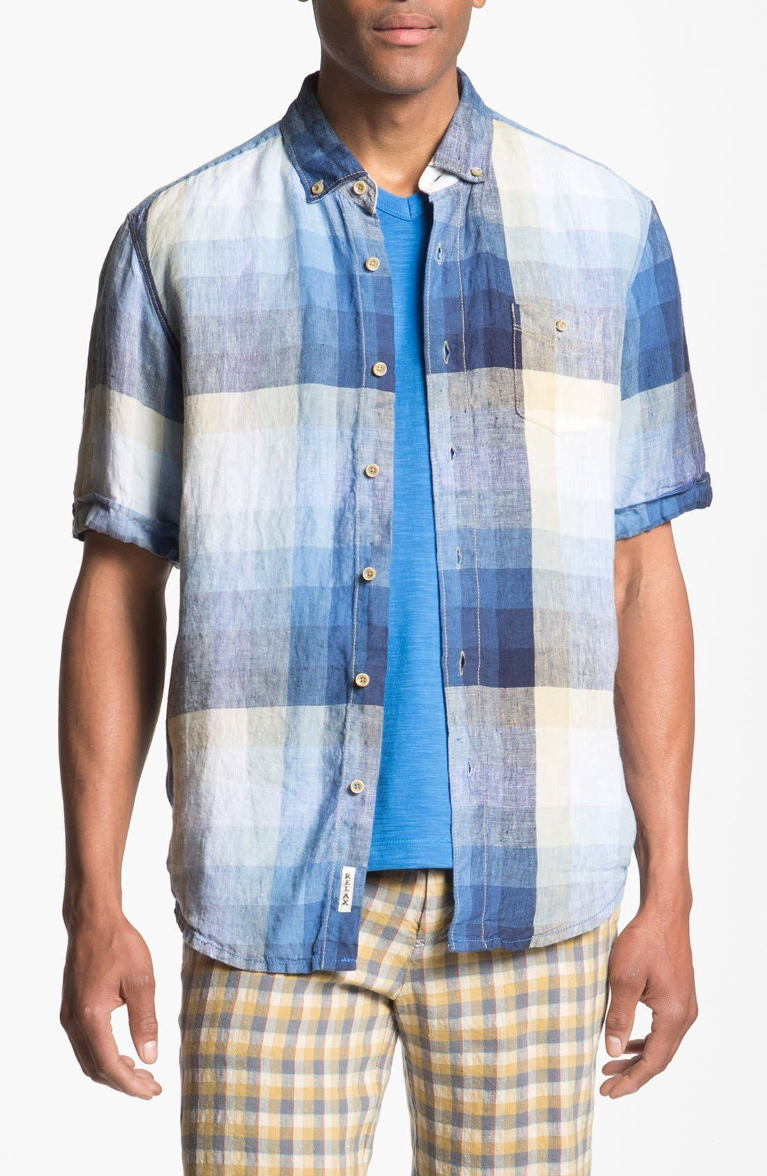 Main Image - Tommy Bahama 'Pacific Breezer' Short Sleeve Linen Sport Shirt