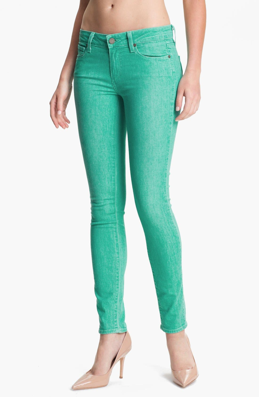 Main Image - Paige Denim 'Verdugo' Skinny Stretch Denim Jeans (Spearmint)