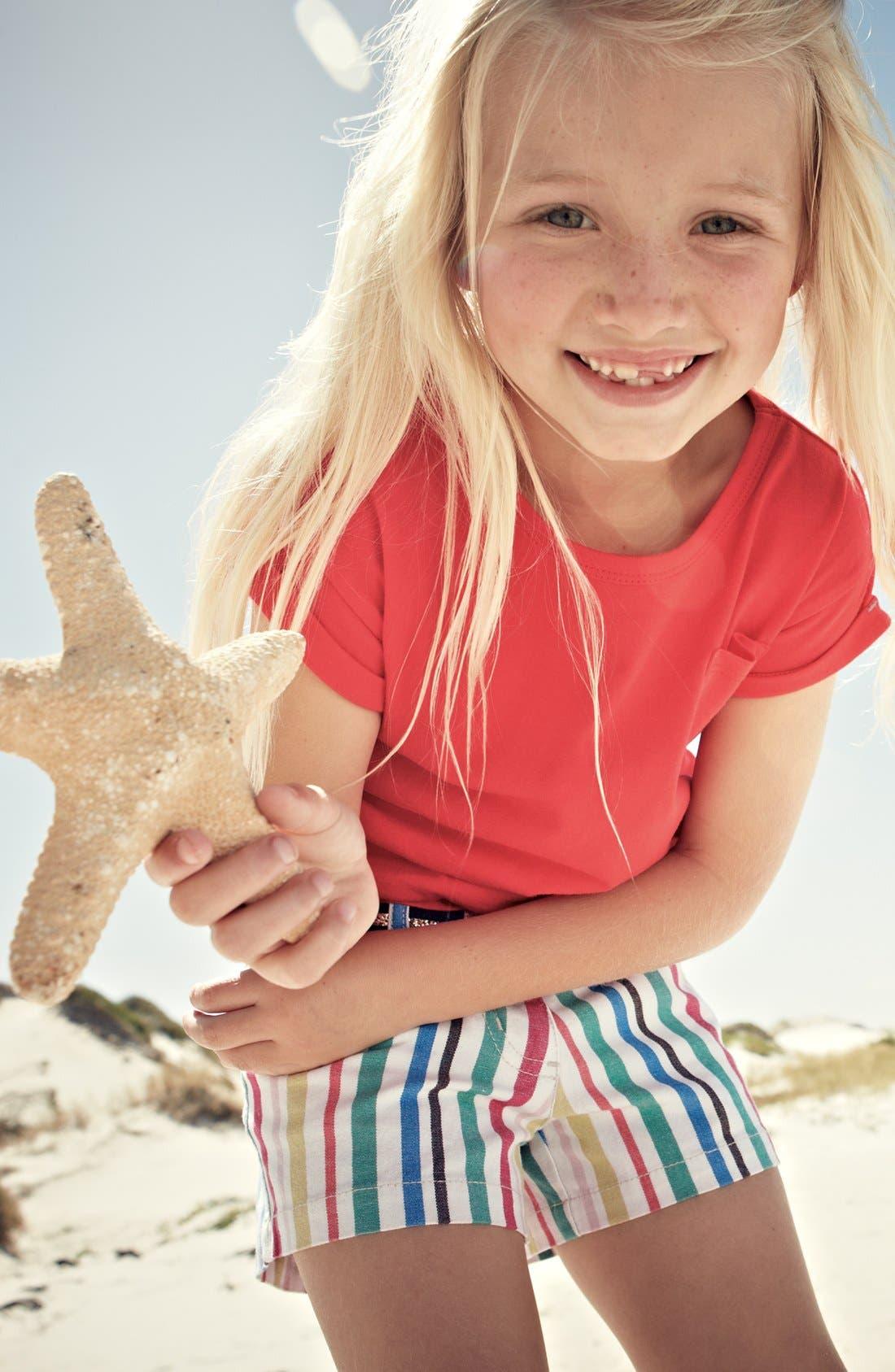 Alternate Image 2  - Mini Boden 'Heart Pocket' Denim Shorts (Little Girls & Big Girls)