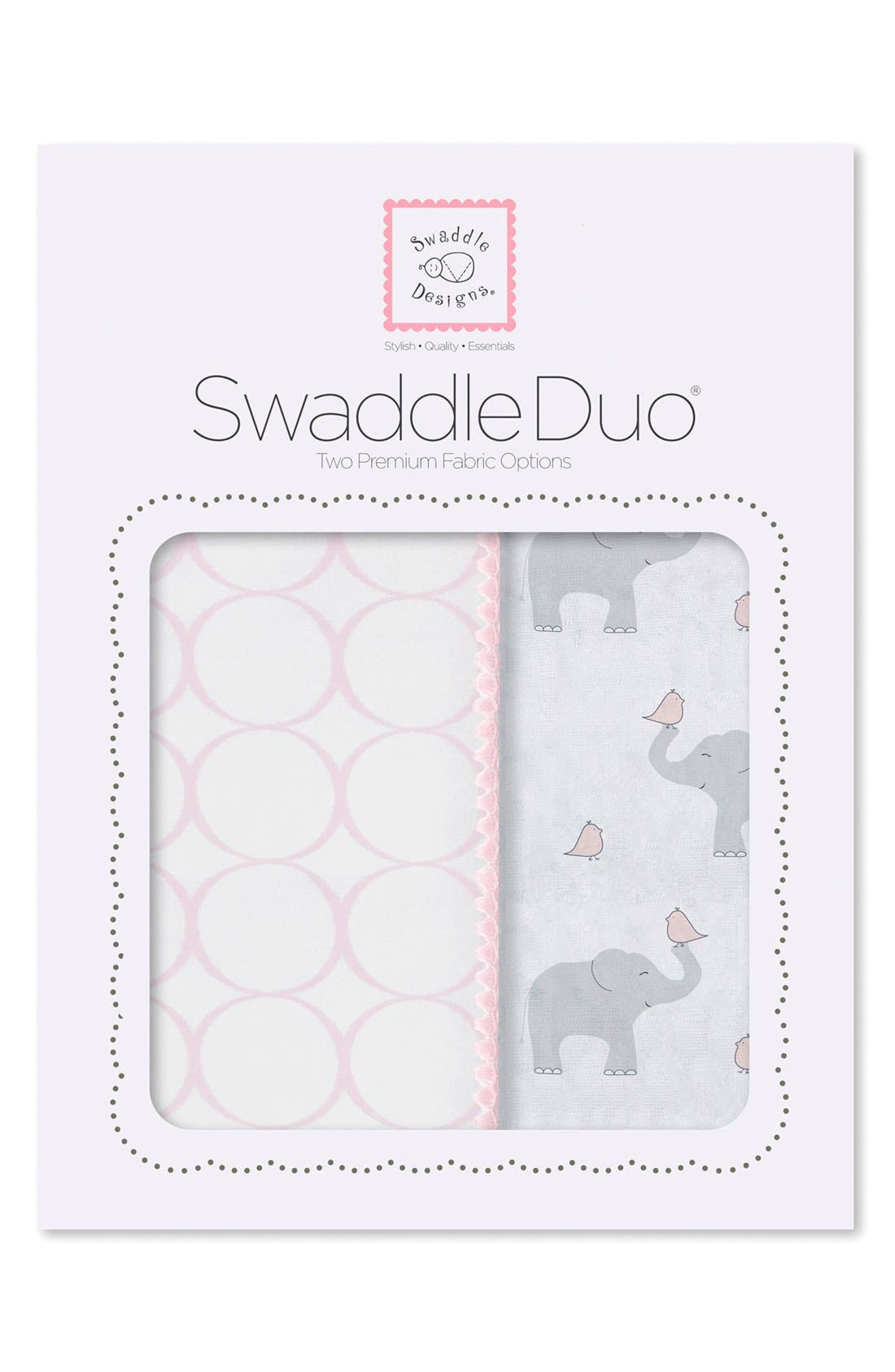 Alternate Image 1 Selected - Swaddle Designs 'Swaddle Duo' Receiving & Swaddling Blankets
