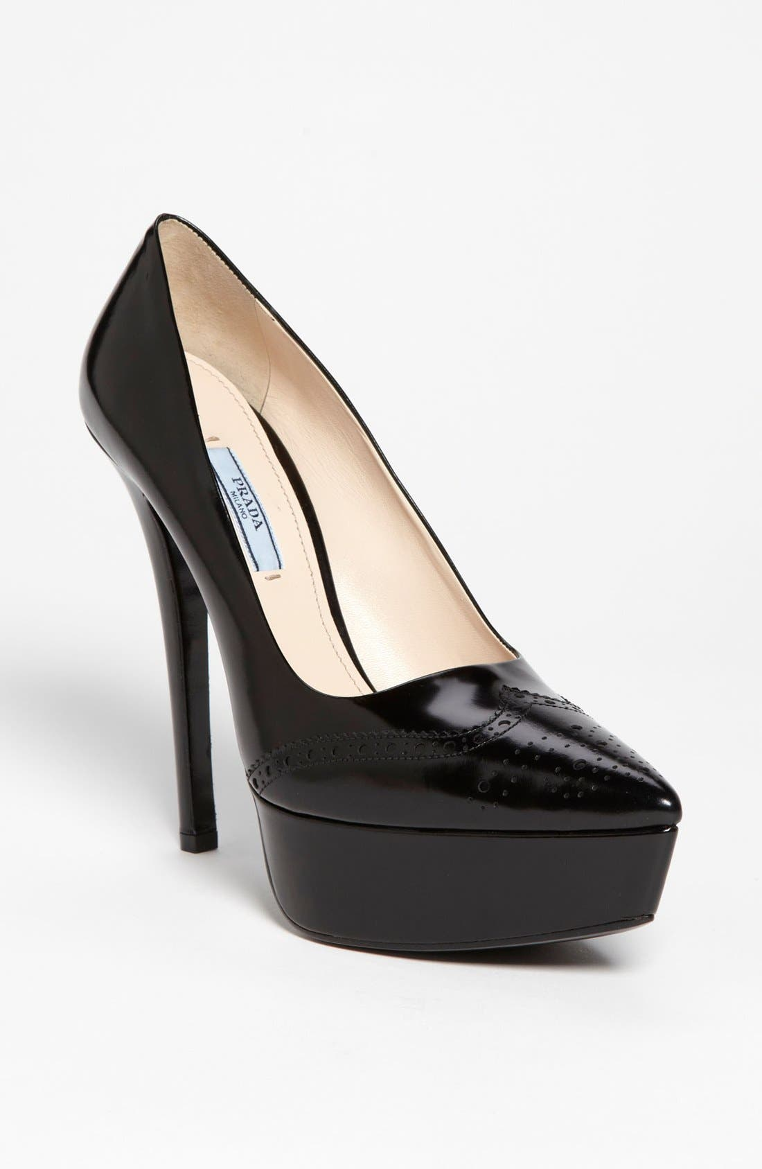 Alternate Image 1 Selected - Prada Oxford Platform Pump