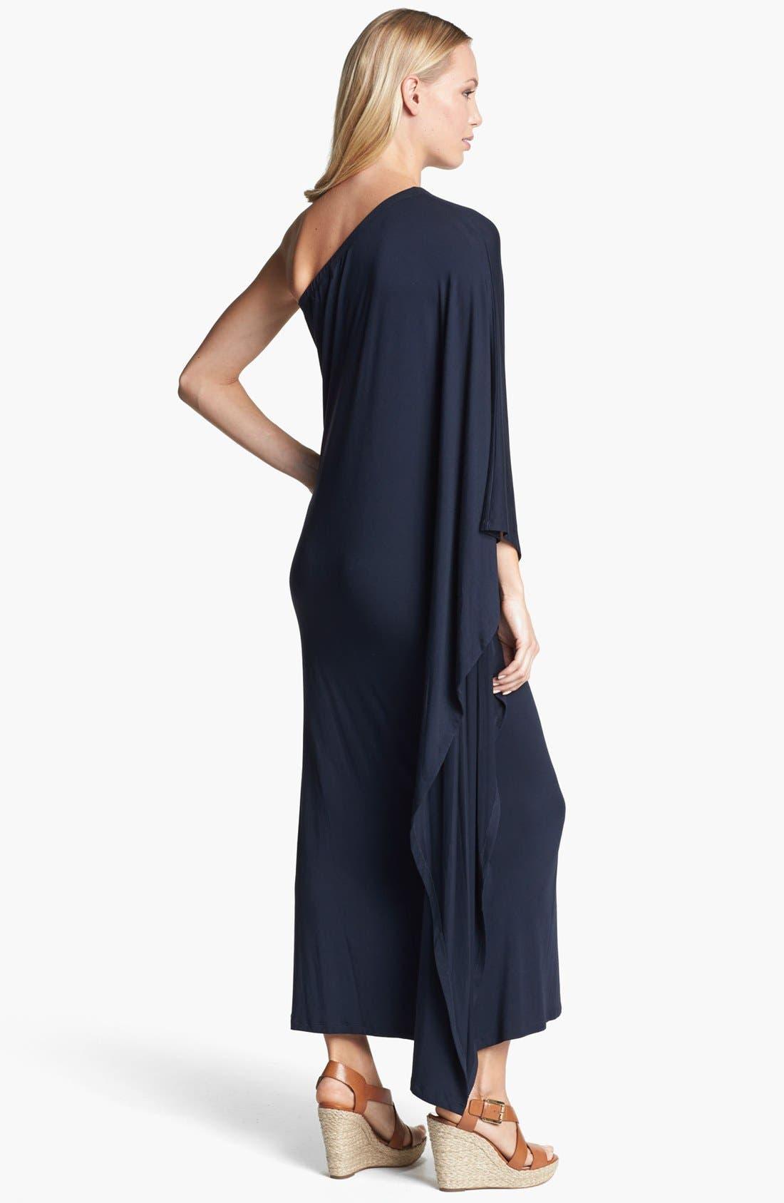Alternate Image 2  - MICHAEL Michael Kors One Shoulder Poncho Maxi Dress