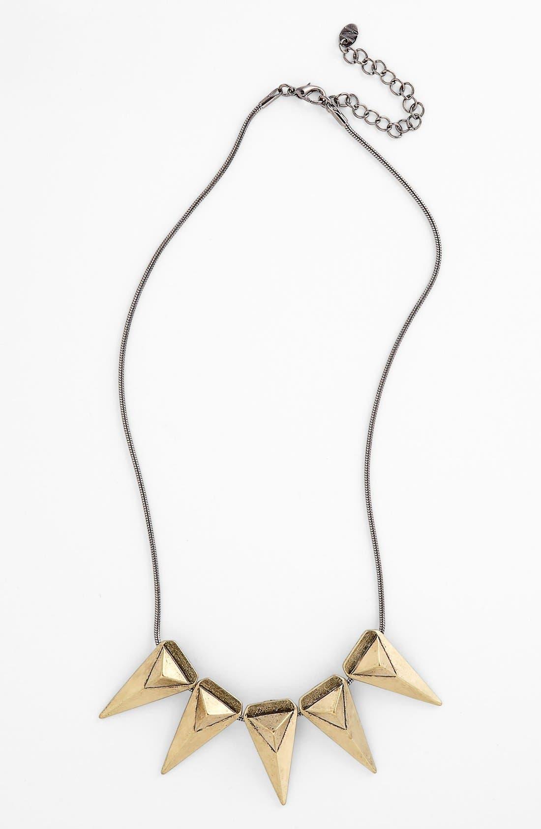Alternate Image 1 Selected - True Birds Triangle Pendant Necklace