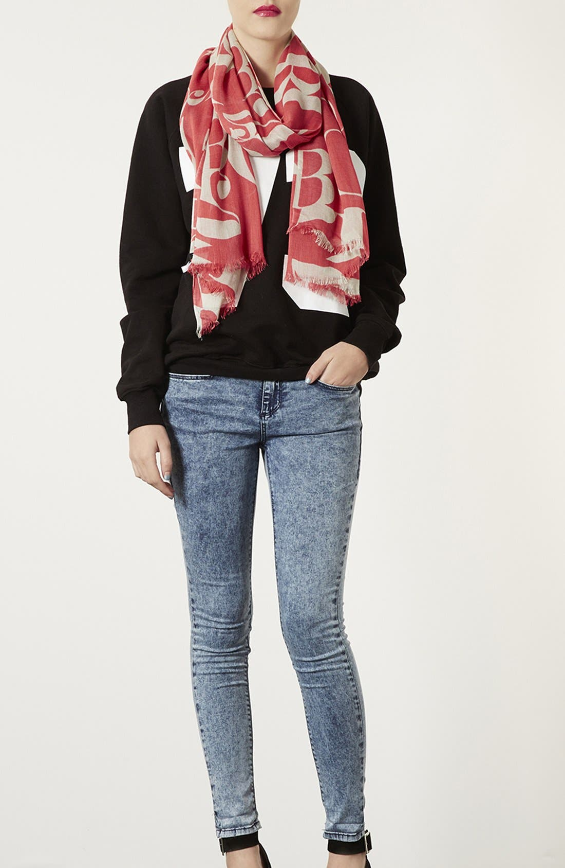 Alternate Image 3  - Topshop 'Abstract Letter' Scarf