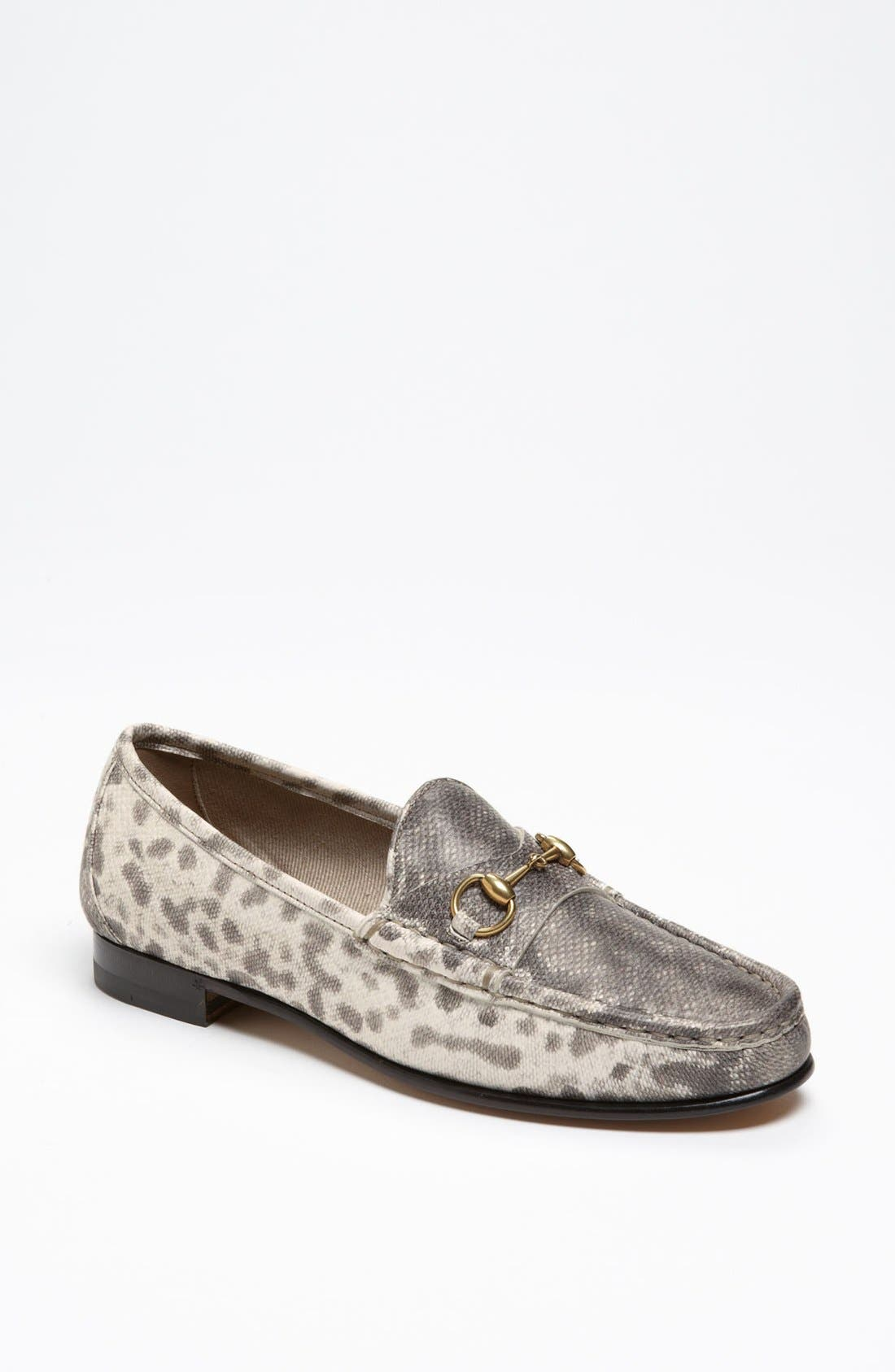 Alternate Image 1 Selected - Gucci Horse Bit Moccasin