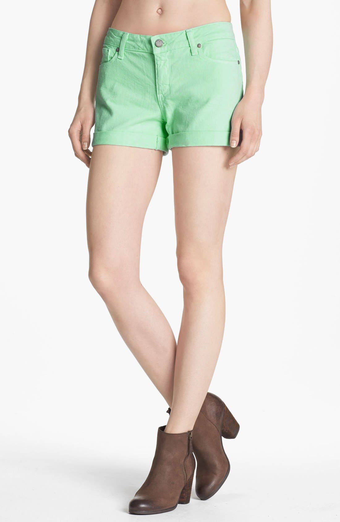 Main Image - Paige Denim 'Jimmy Jimmy' Shorts (Glass)