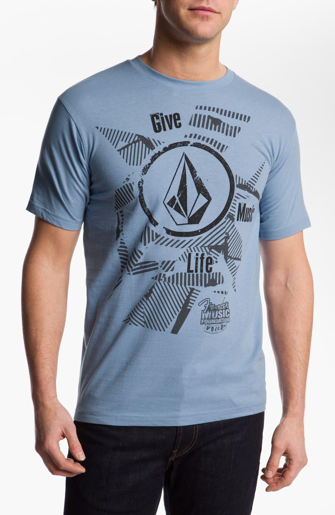 Main Image - Volcom 'Fender® Music Foundation' Graphic T-Shirt