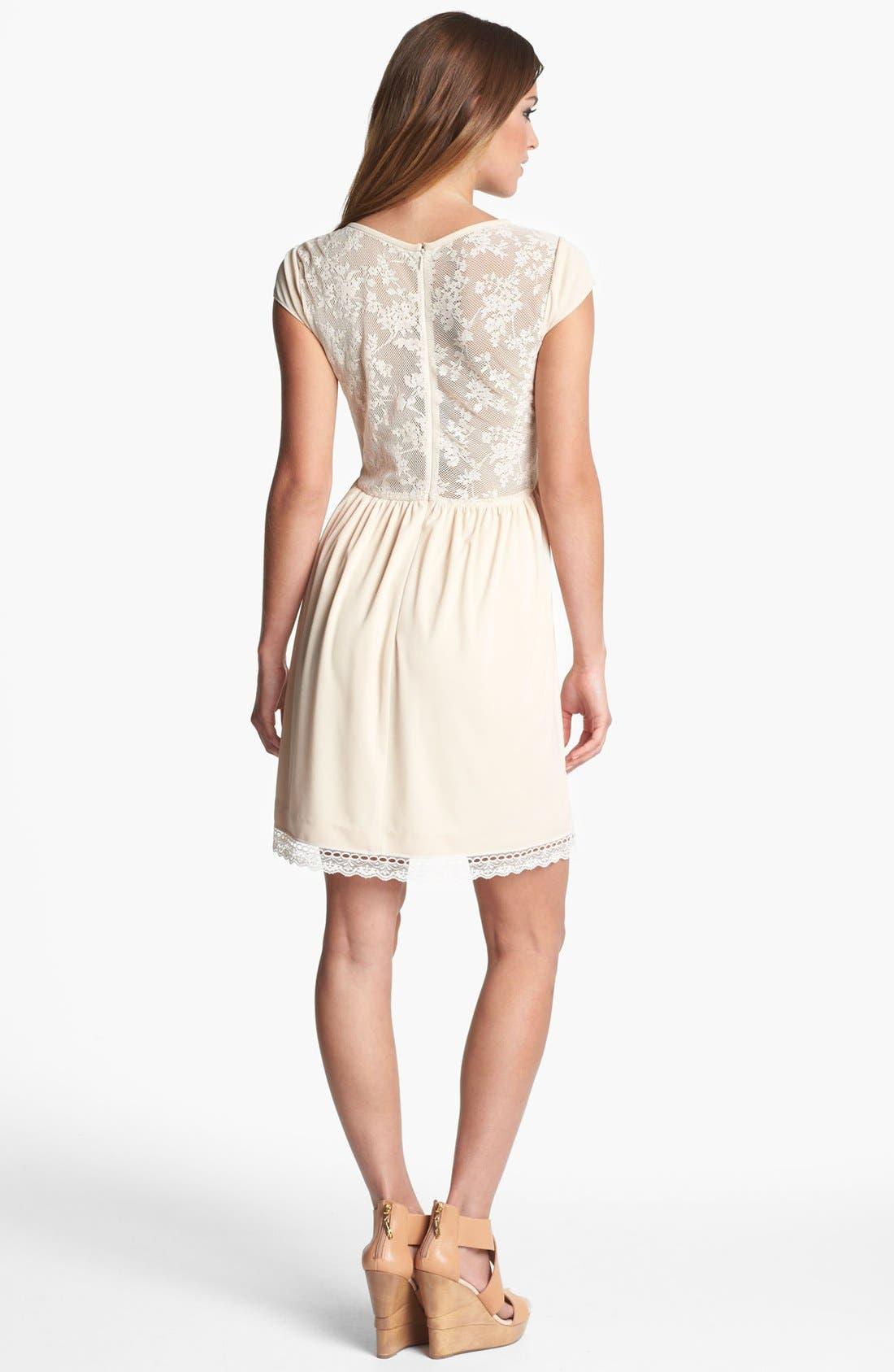 Alternate Image 2  - LABEL by five twelve Floral Appliqué Fit & Flare Dress