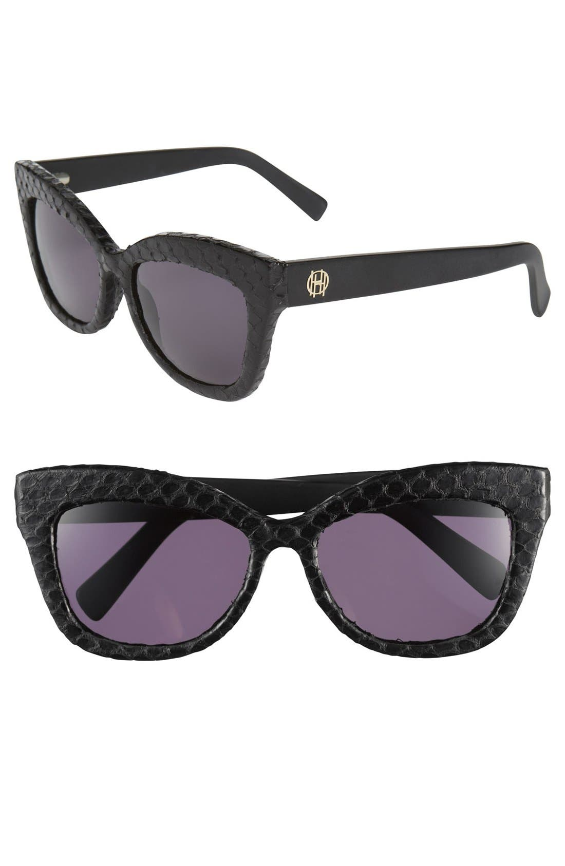 Main Image - House of Harlow 1960 'Linsey' 56mm Genuine Python Sunglasses