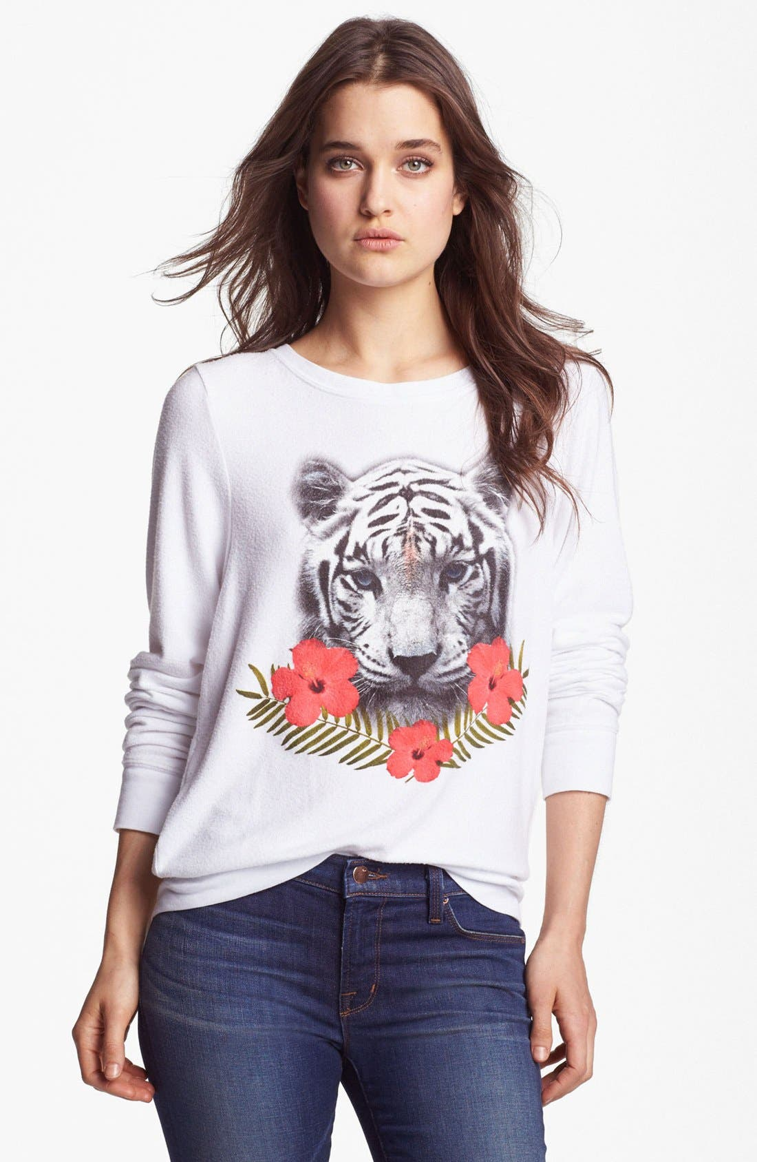 Alternate Image 1 Selected - Wildfox 'Tropical Tiger' Sweater