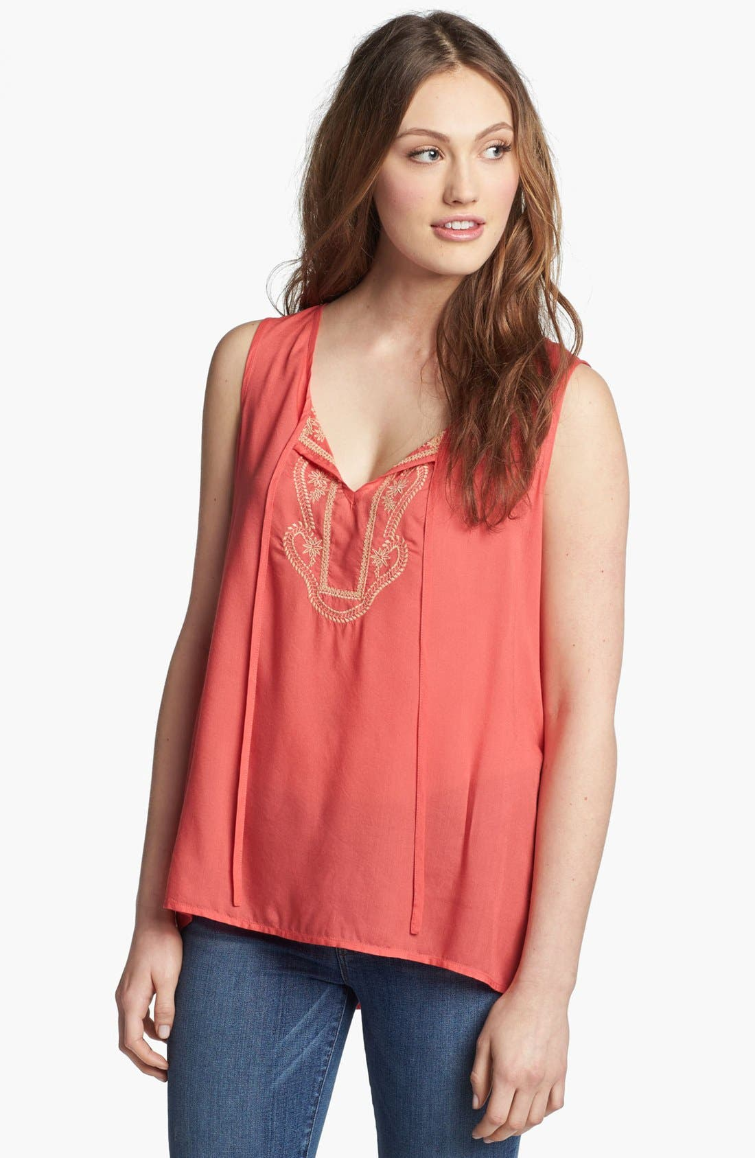 Main Image - KUT from the Kloth Embroidered Tank