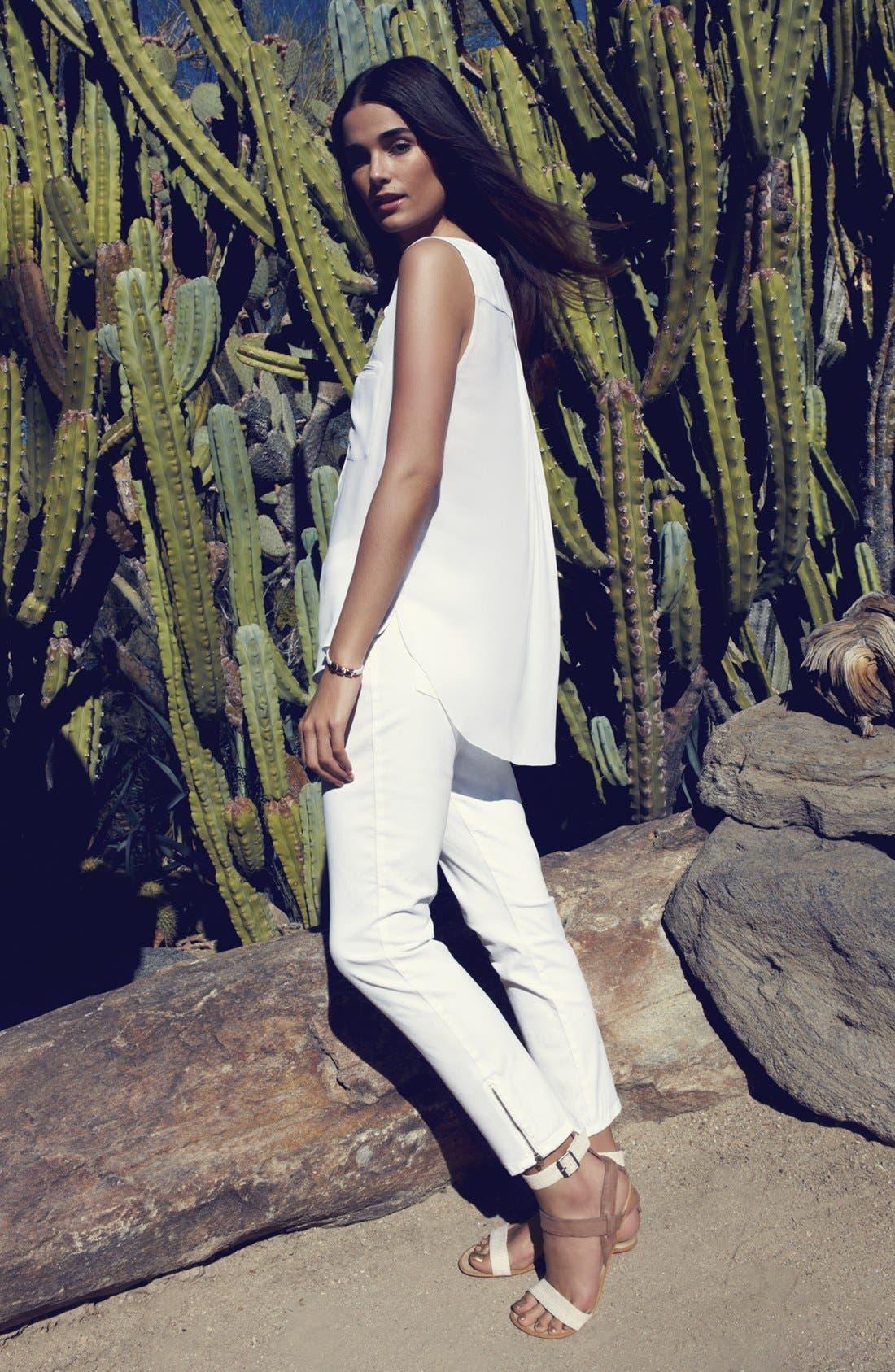 Alternate Image 1 Selected - NYDJ Blouse & 'Angelina' Denim Leggings