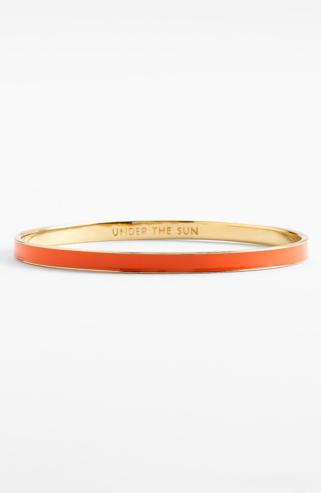 Main Image - kate spade new york 'idiom - under the sun' ultra thin enamel bangle