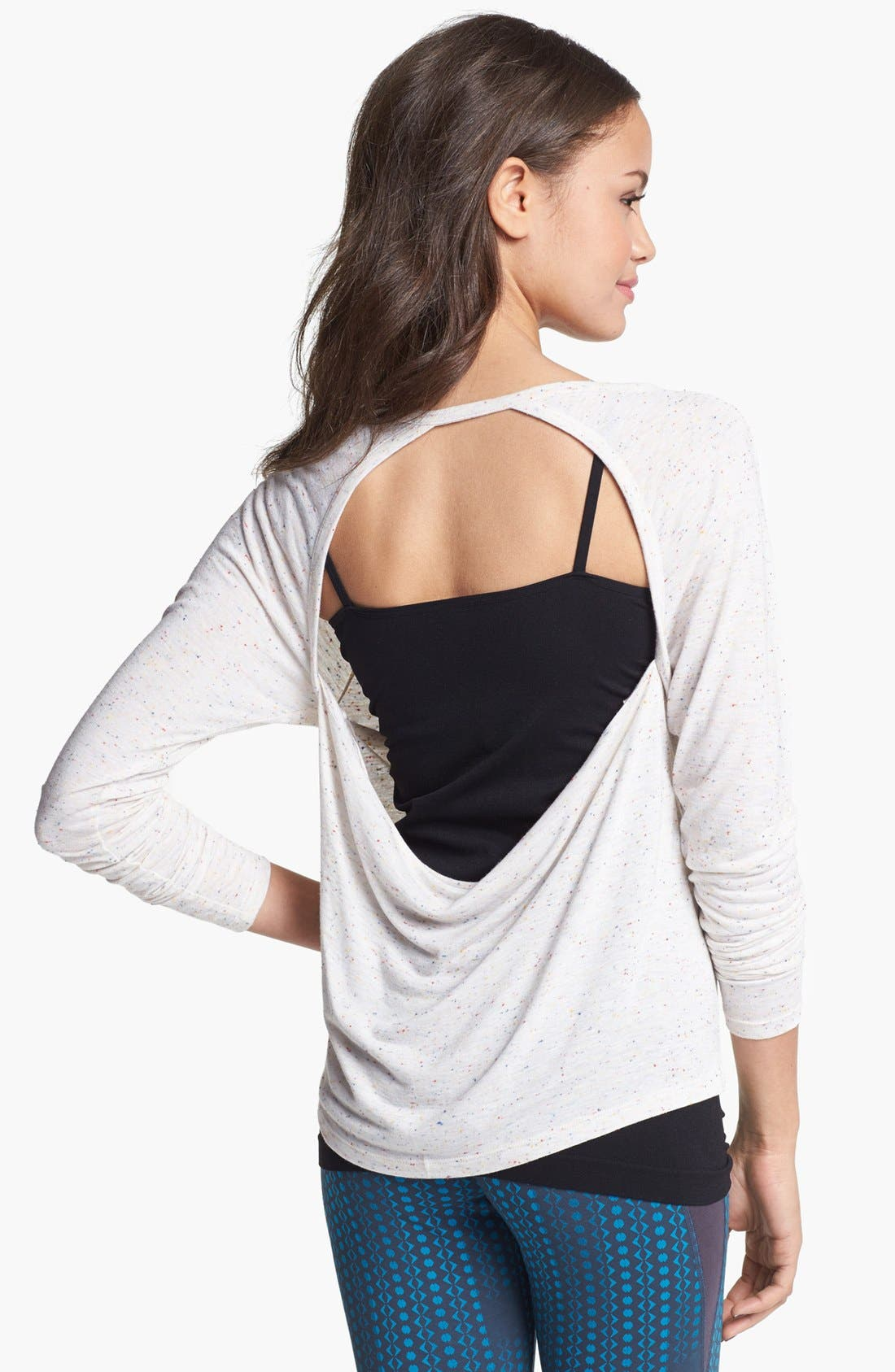 Alternate Image 1 Selected - Unit-Y 'Expression' Drape Back Nep Knit Tee