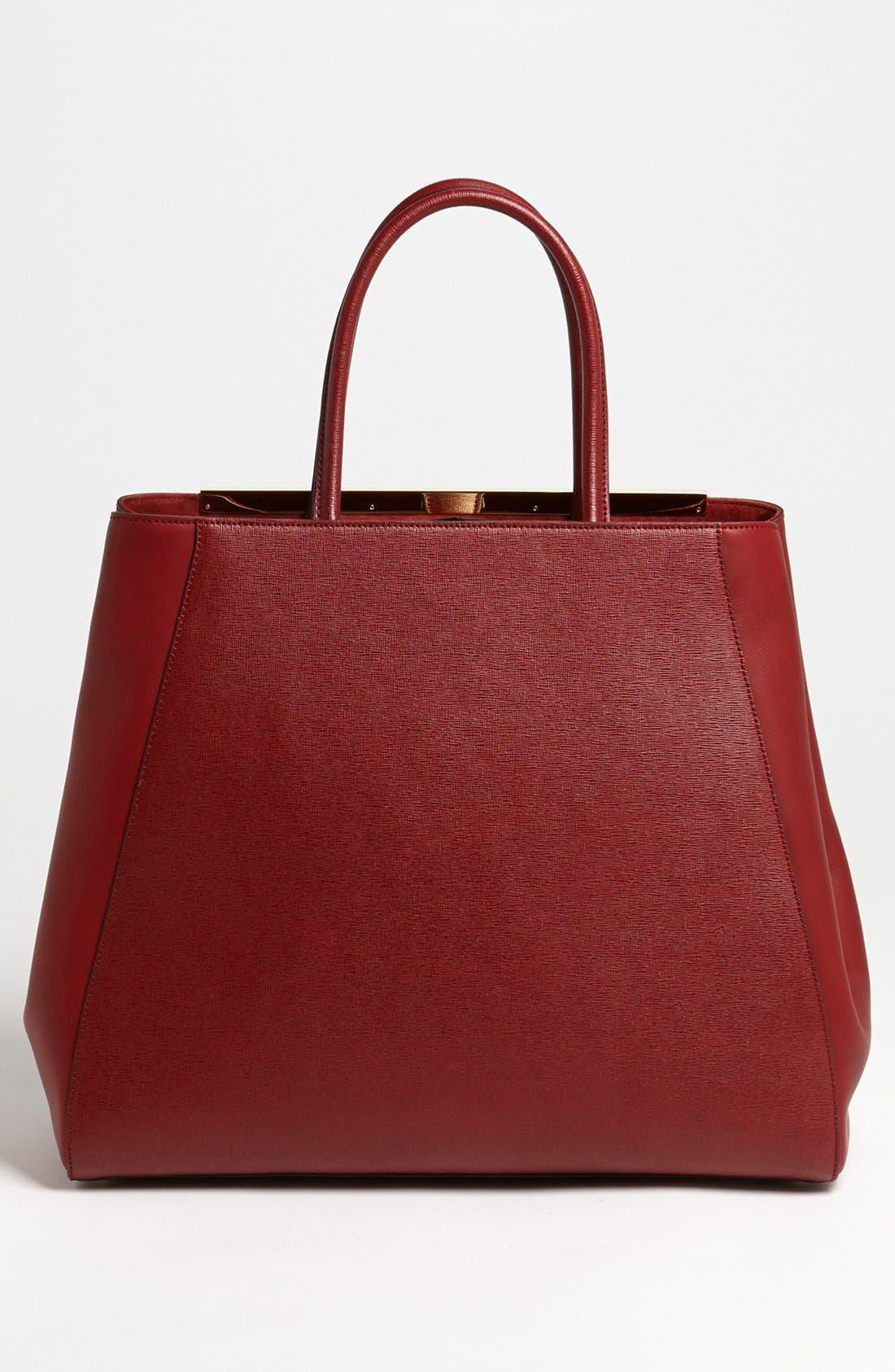 Alternate Image 4  - Fendi '2Jours Elite - Large' Leather Shopper