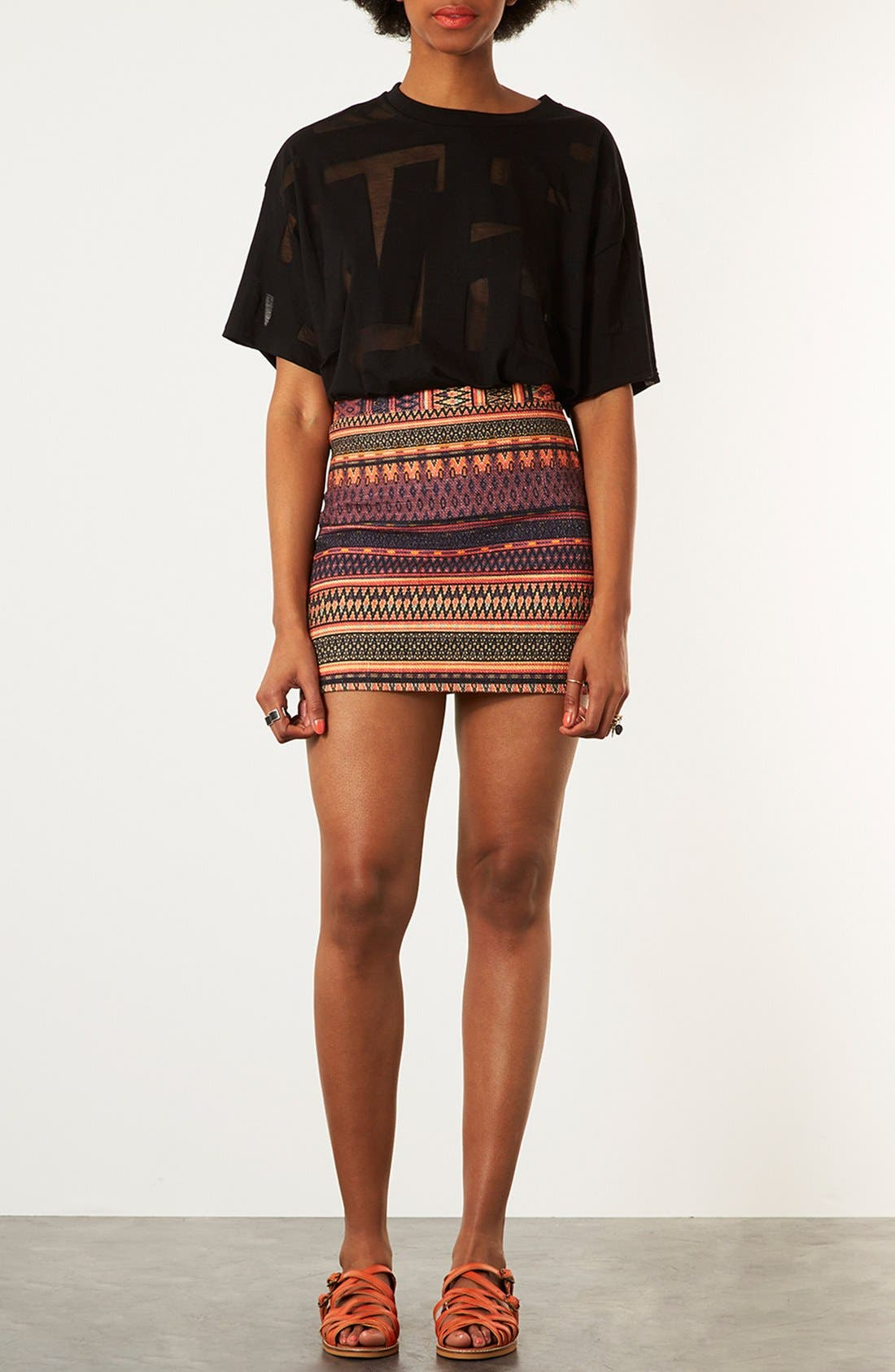 Alternate Image 4  - Topshop 'Safari' Ikat A-Line Skirt