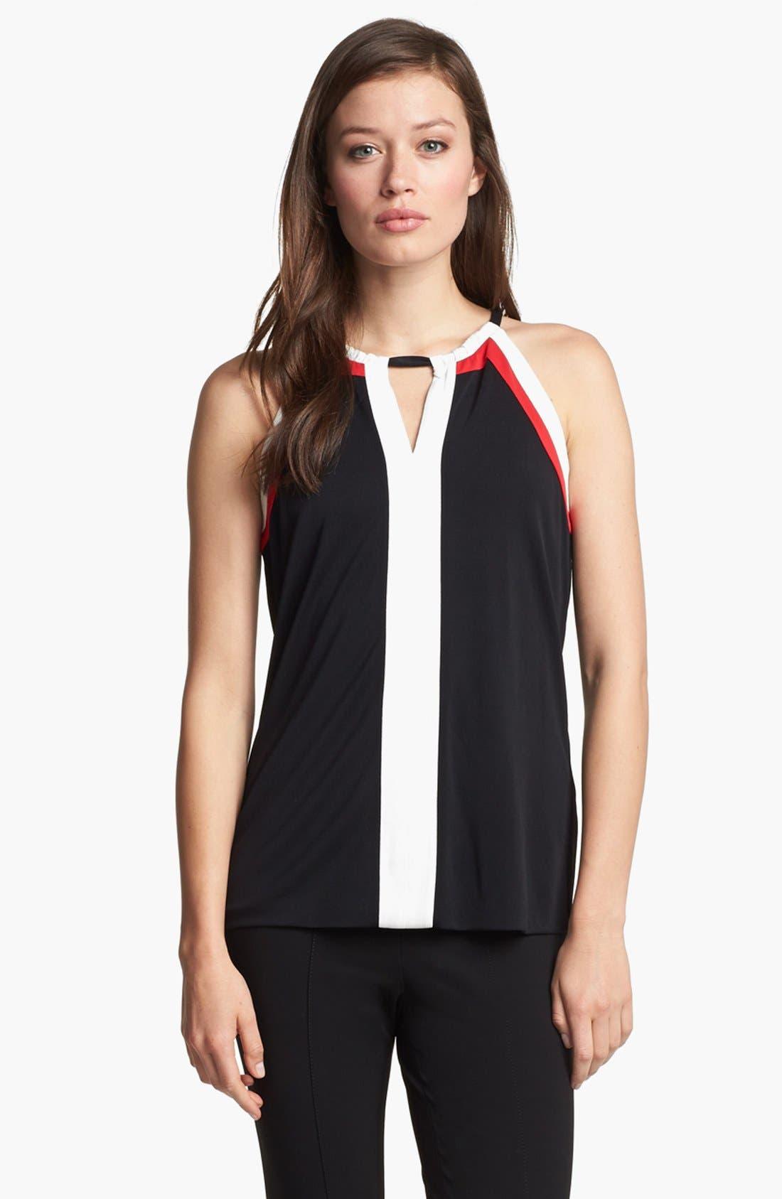 Alternate Image 1 Selected - Classiques Entier® Colorblock Silk Blend Jersey Top